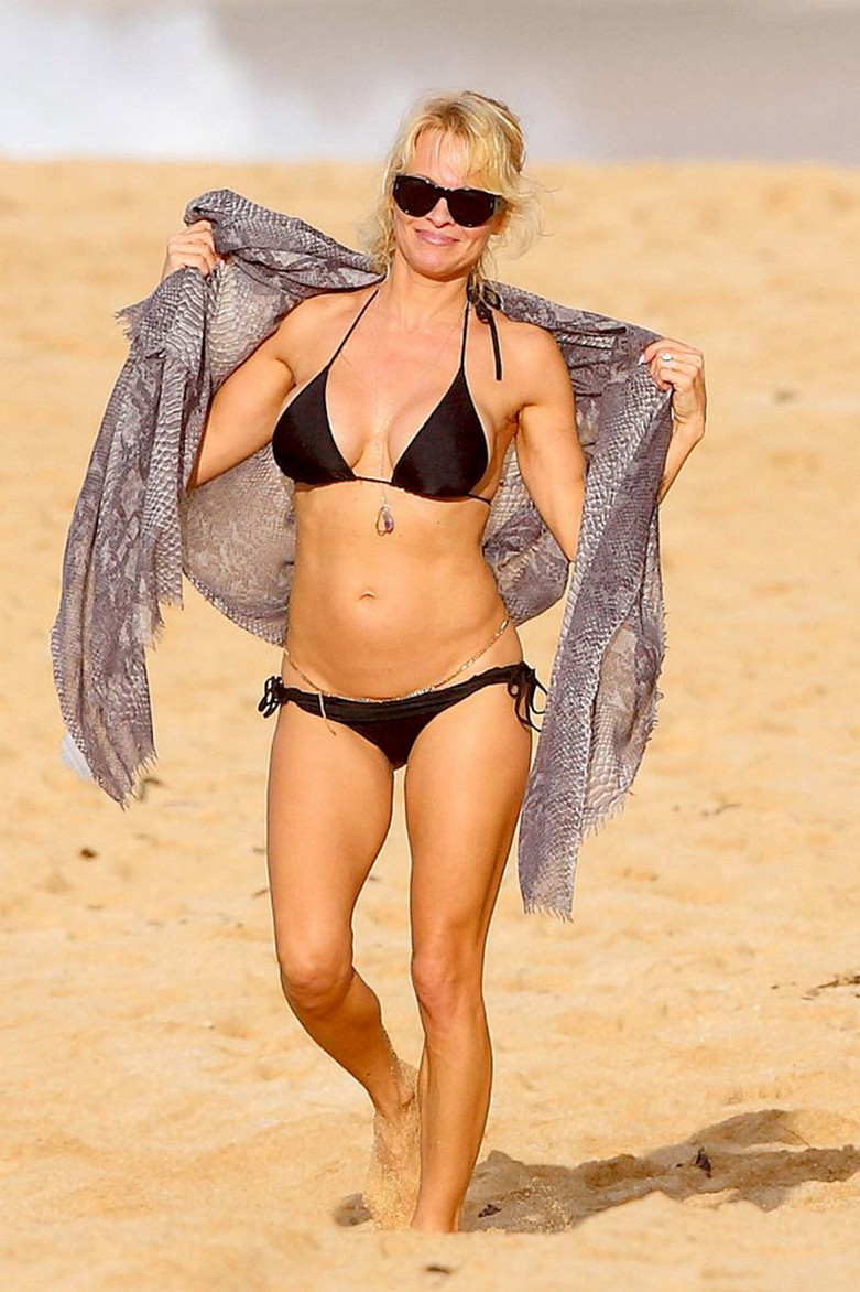 Pamela Anderson: Με αποκαλυπτικό μπικίνι και... αλυσίδες στα επίμαχα! 1