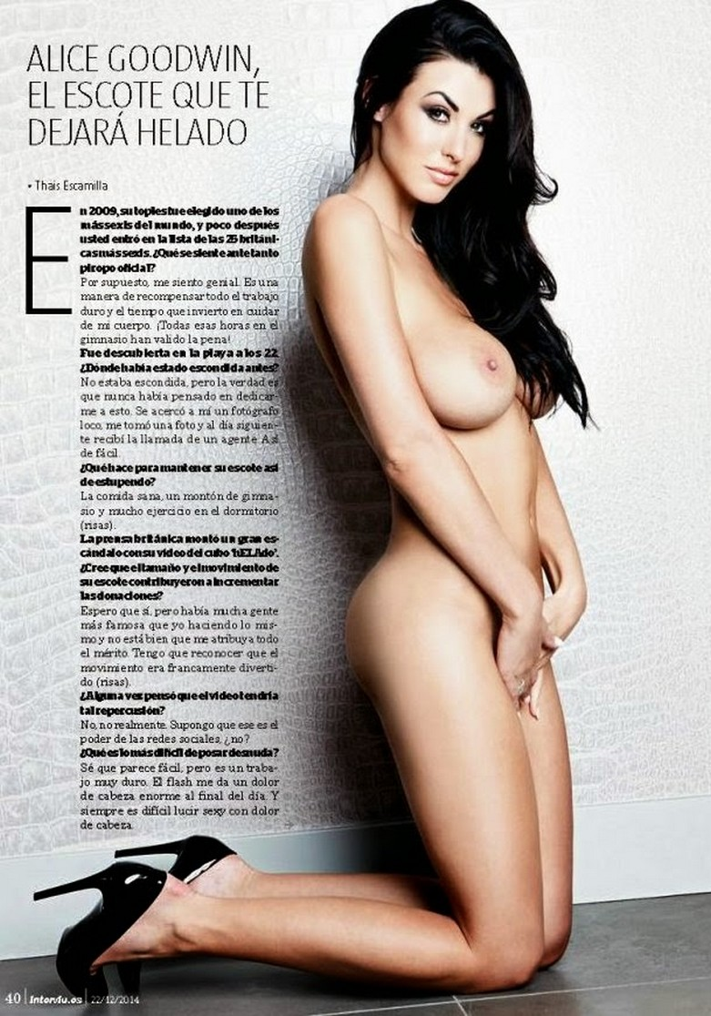Alice Goodwin Naked in Interviu! 4