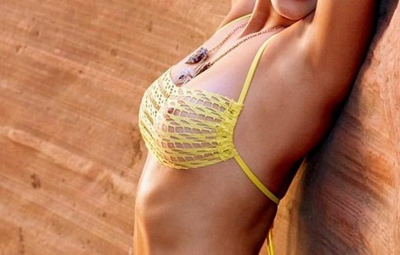 Nina Agdal in Transparent Bikini 1
