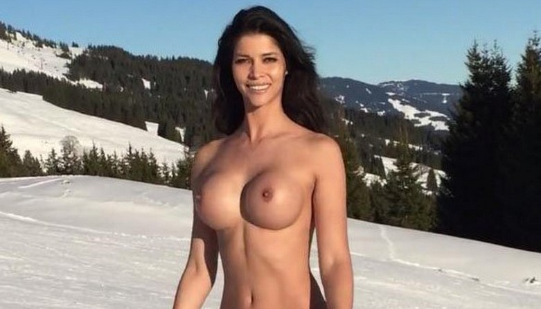 Micaela Schäfer Naked On Snow 8