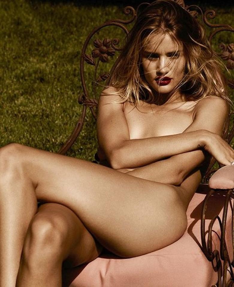 Rosie Huntington-Whiteley – Violet Grey Topless Photoshoot 1