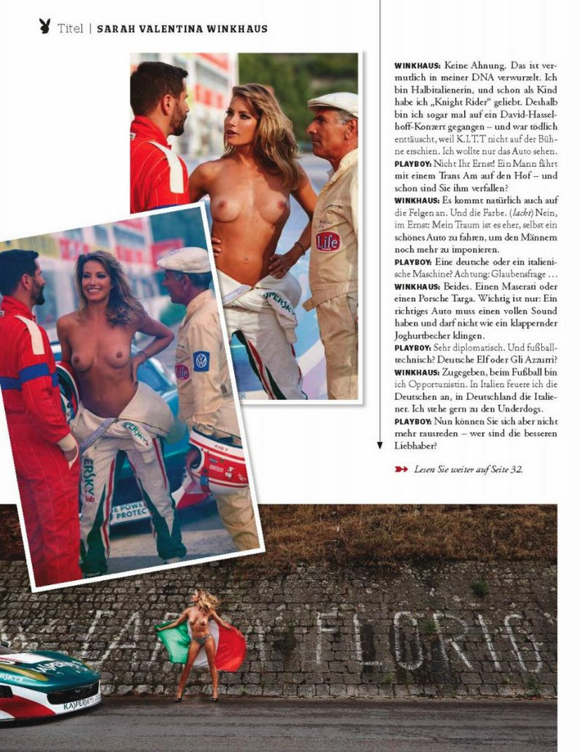 Sarah Valentina Winkhaus - Formula One Sports Expert Naked in Playboy (30 pics) 11