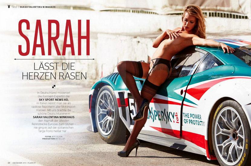 Sarah Valentina Winkhaus - Formula One Sports Expert Naked in Playboy (30 pics) 15