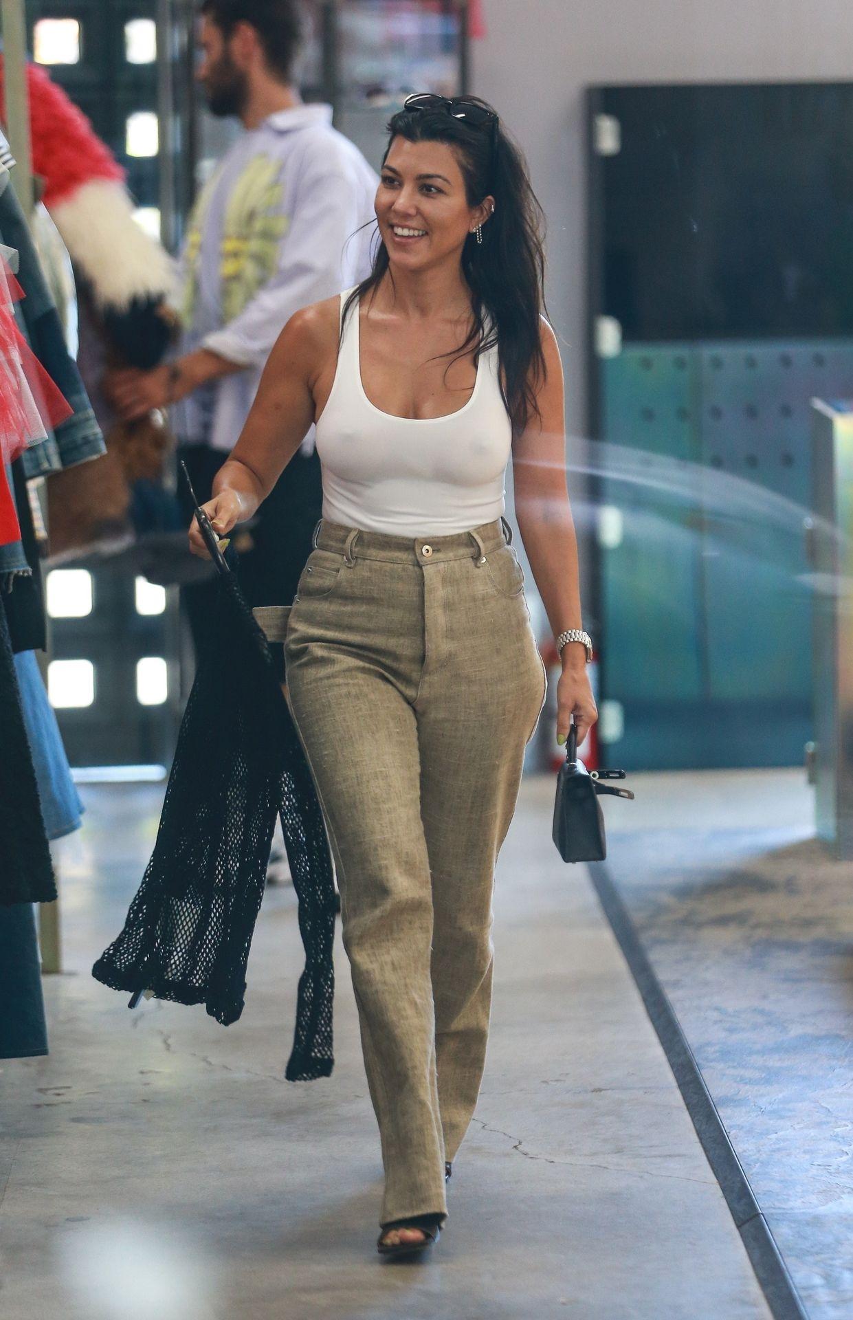Kourtney Kardashian Braless 115