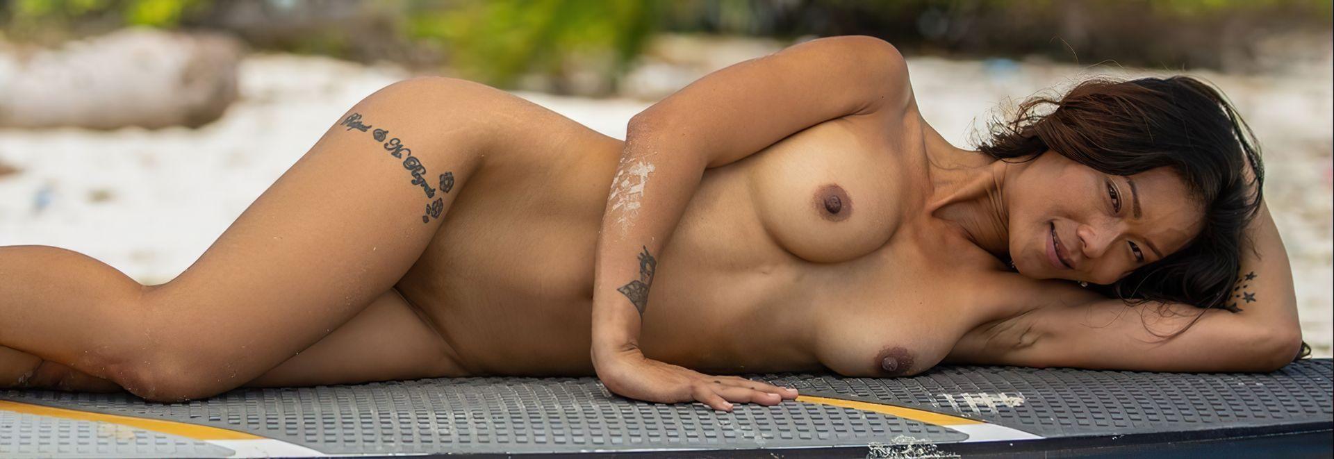 Maki Katana Nude – Catching A Wave 0029