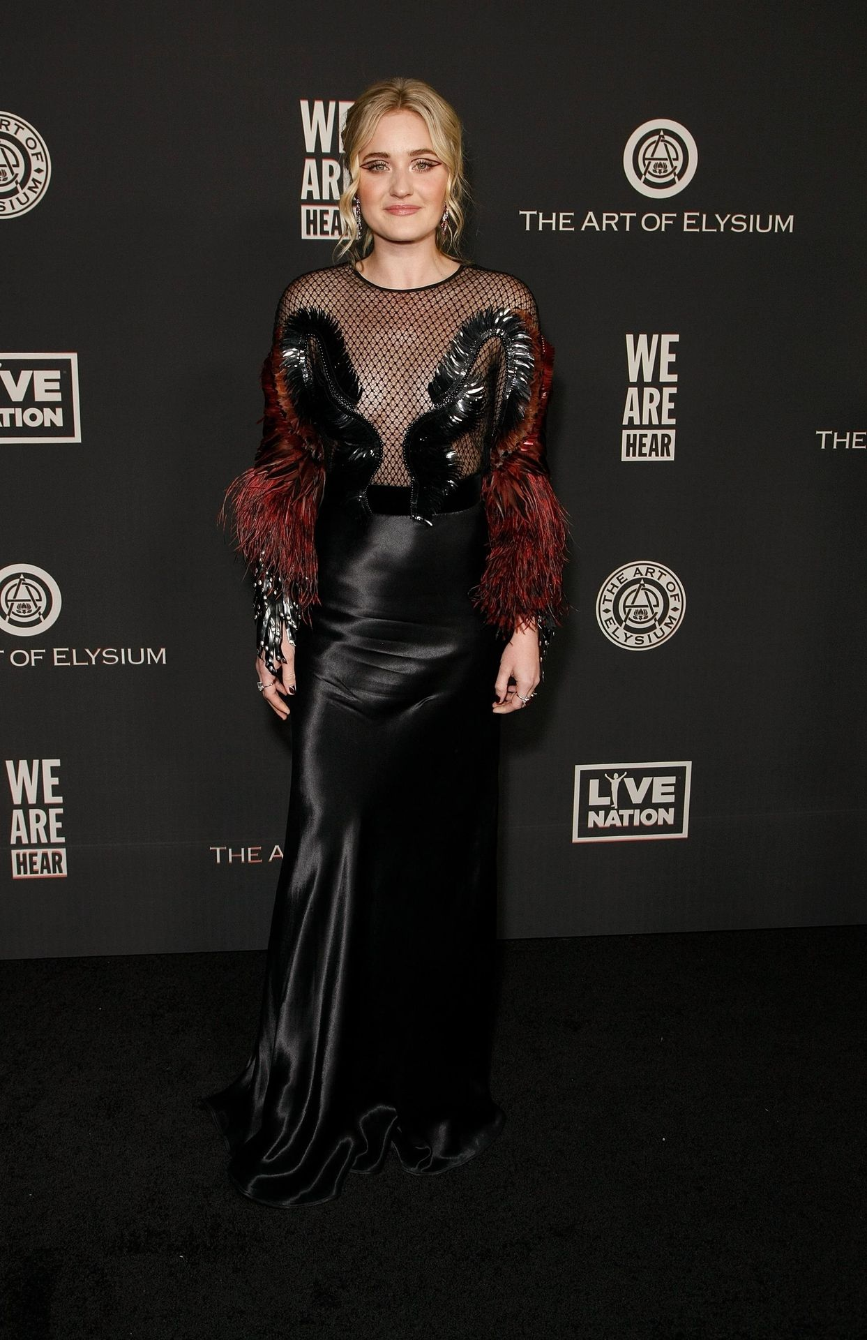 Aj Michalka Shows Her Tits At The Art Of Elysium's Event 0008