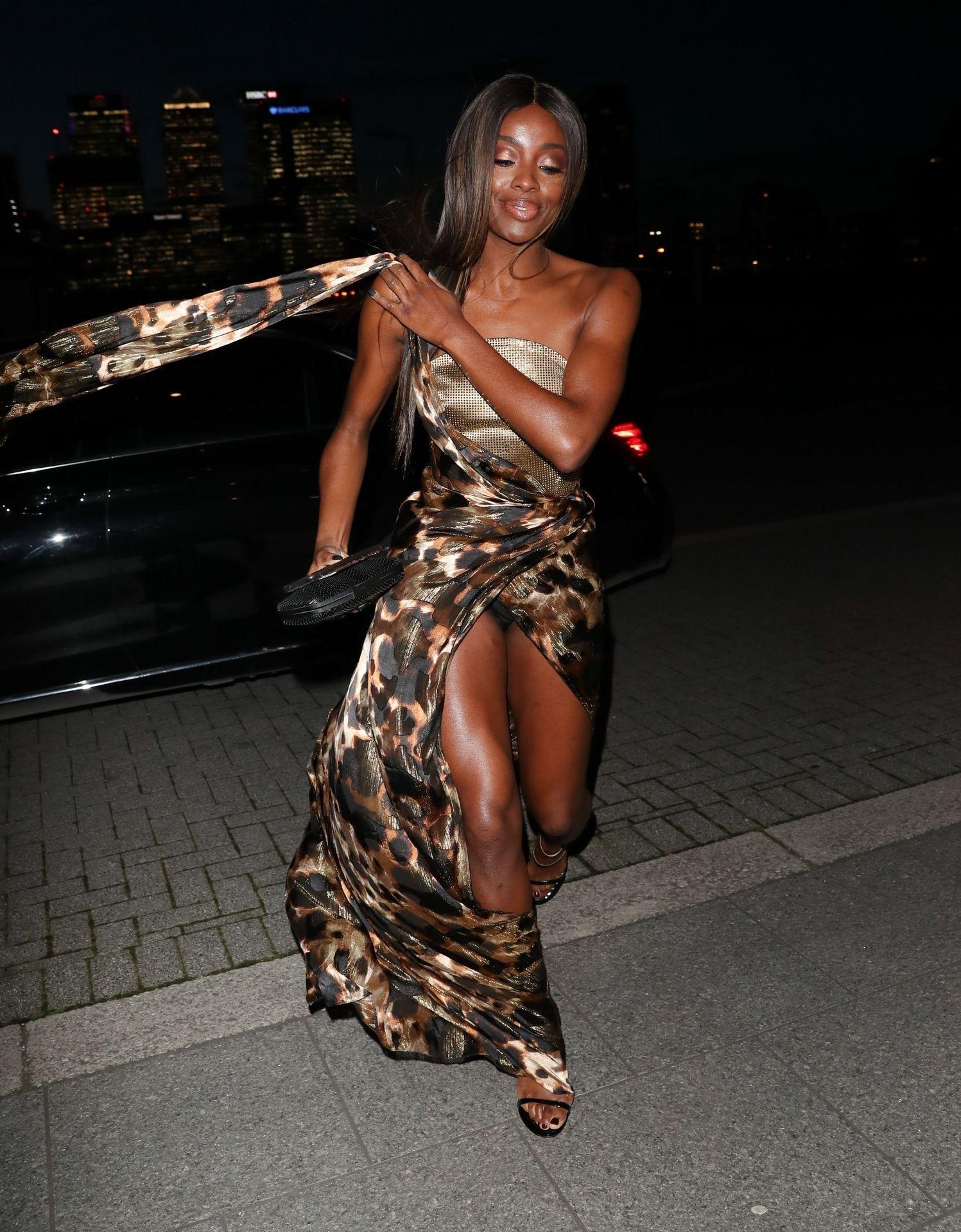 Aj Odudu Flashes Underwear In London 0001