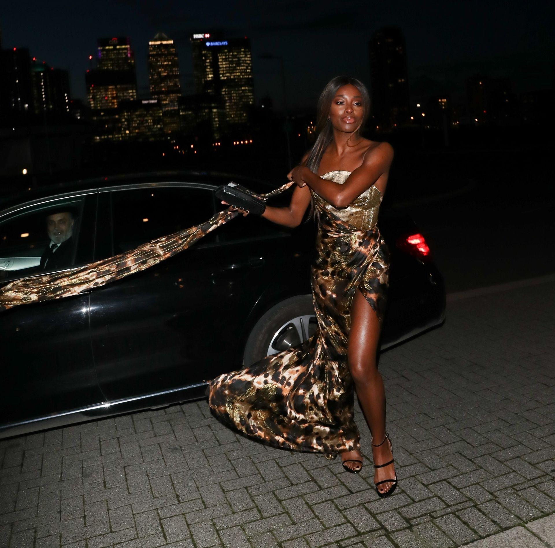 Aj Odudu Flashes Underwear In London 0008