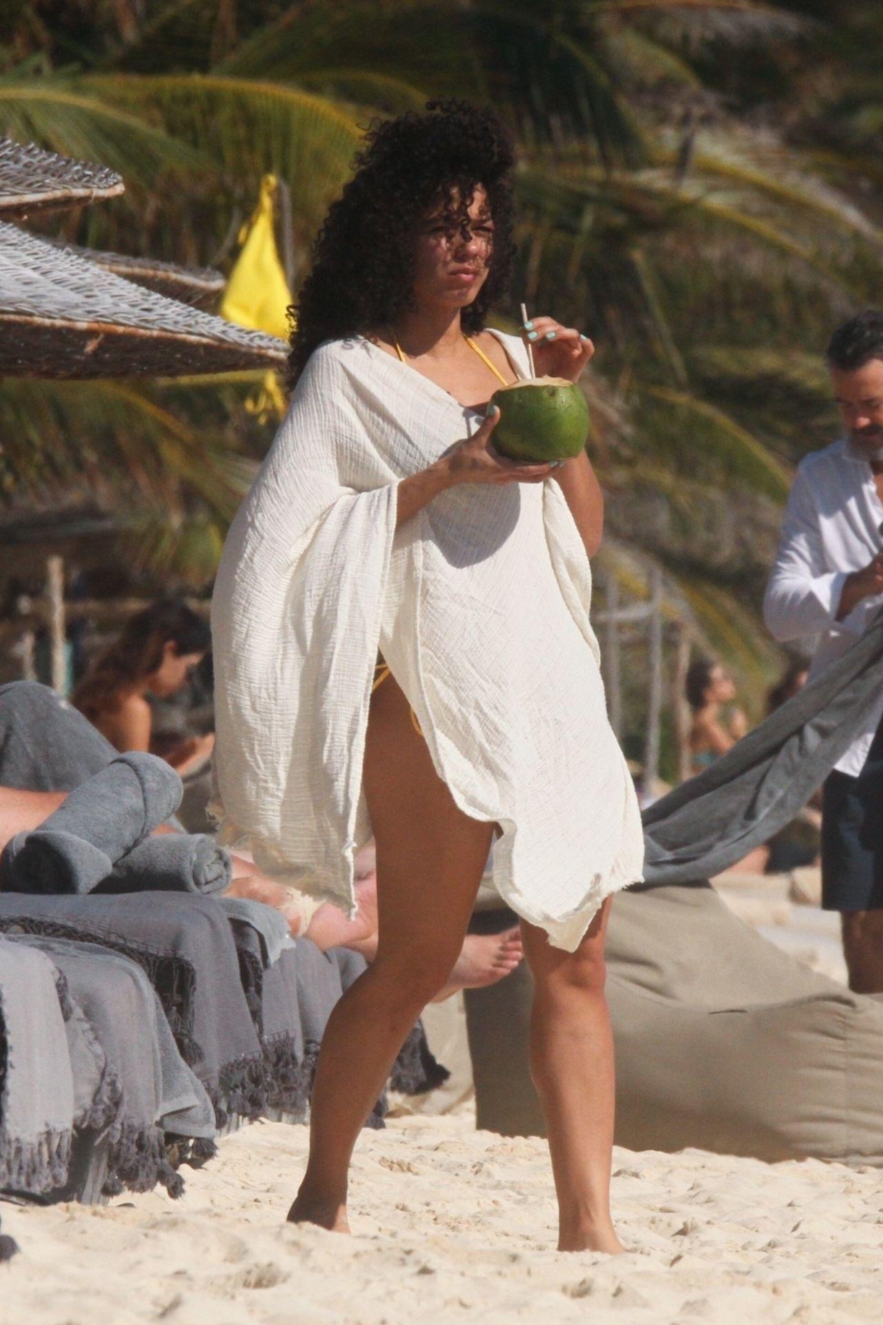 Alisha Wainwright Enjoys A Sun Filled Getaway In Tulum 0021