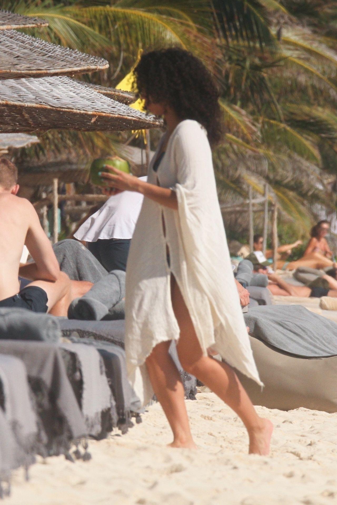 Alisha Wainwright Enjoys A Sun Filled Getaway In Tulum 0024