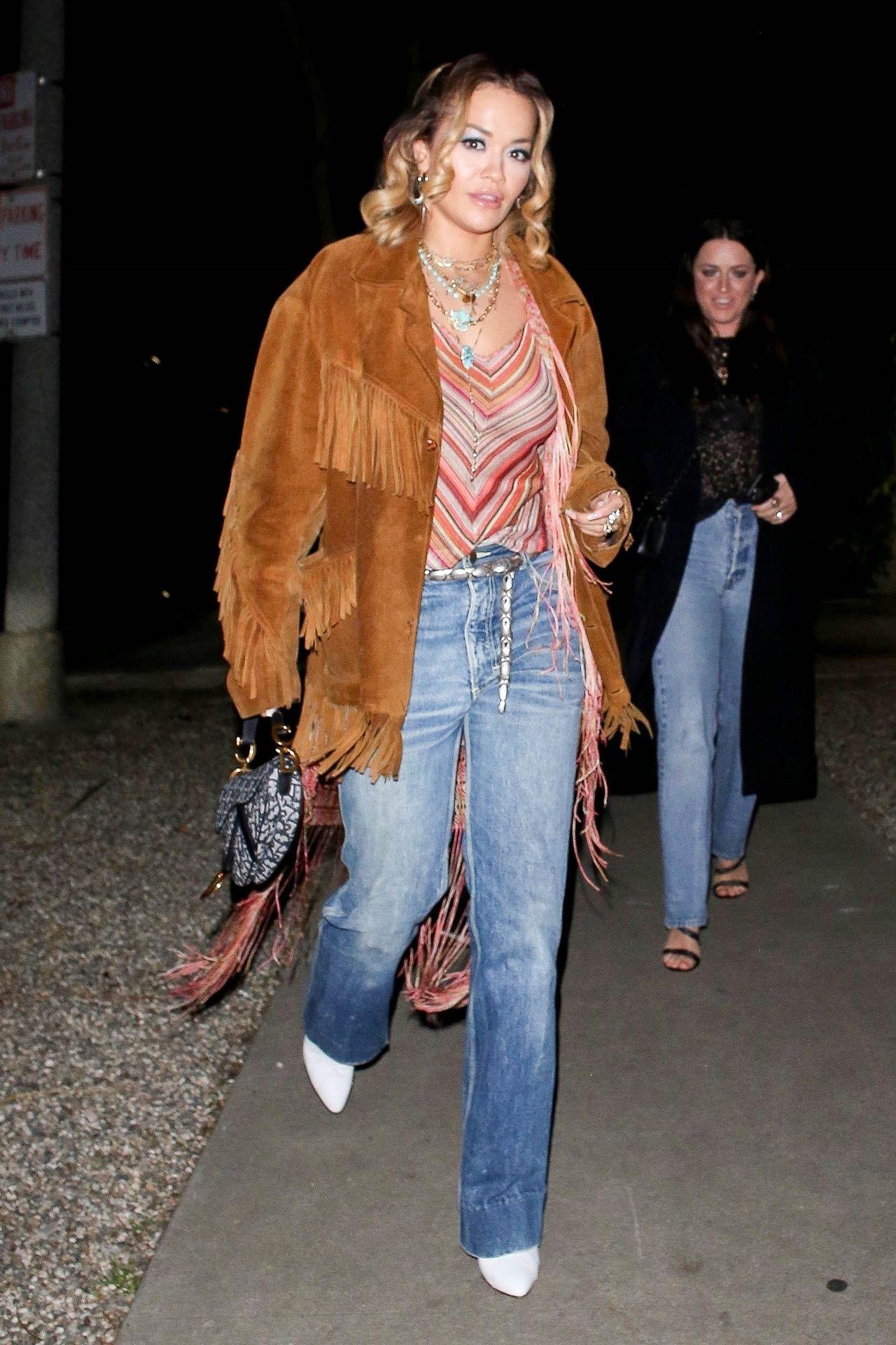 Braless Rita Ora Steps Out With Friends In Los Feliz 0001