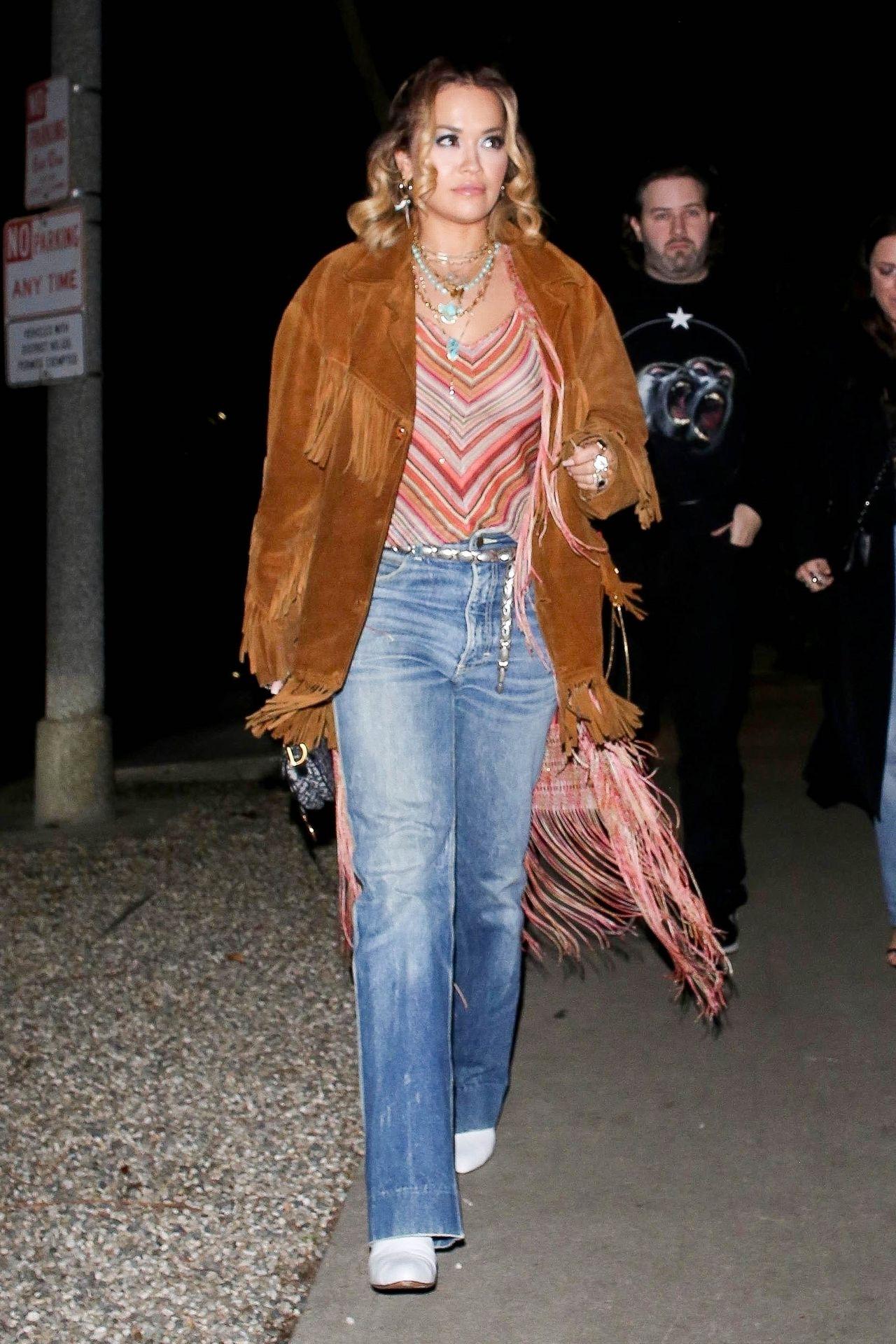 Braless Rita Ora Steps Out With Friends In Los Feliz 0003