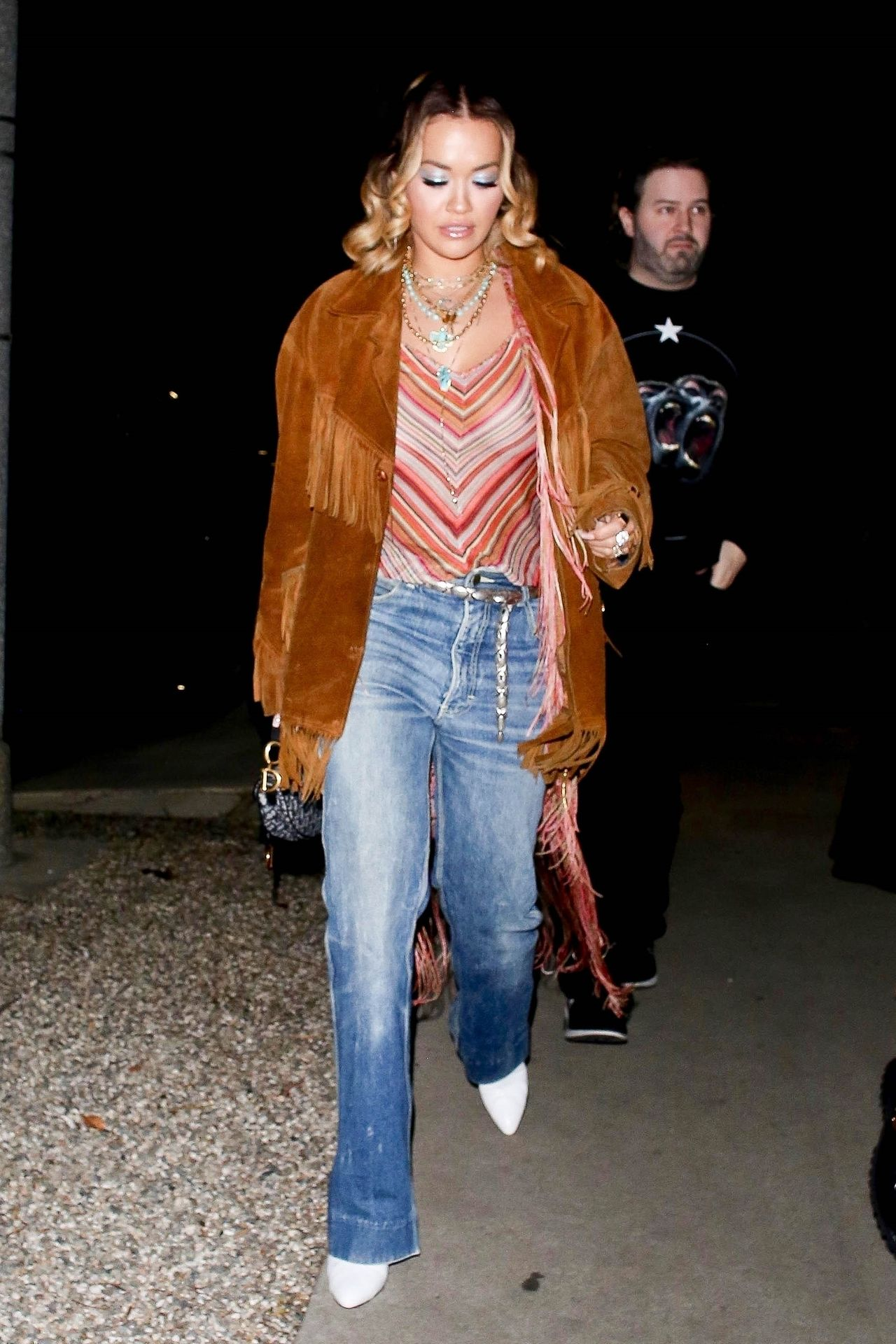 Braless Rita Ora Steps Out With Friends In Los Feliz 0005