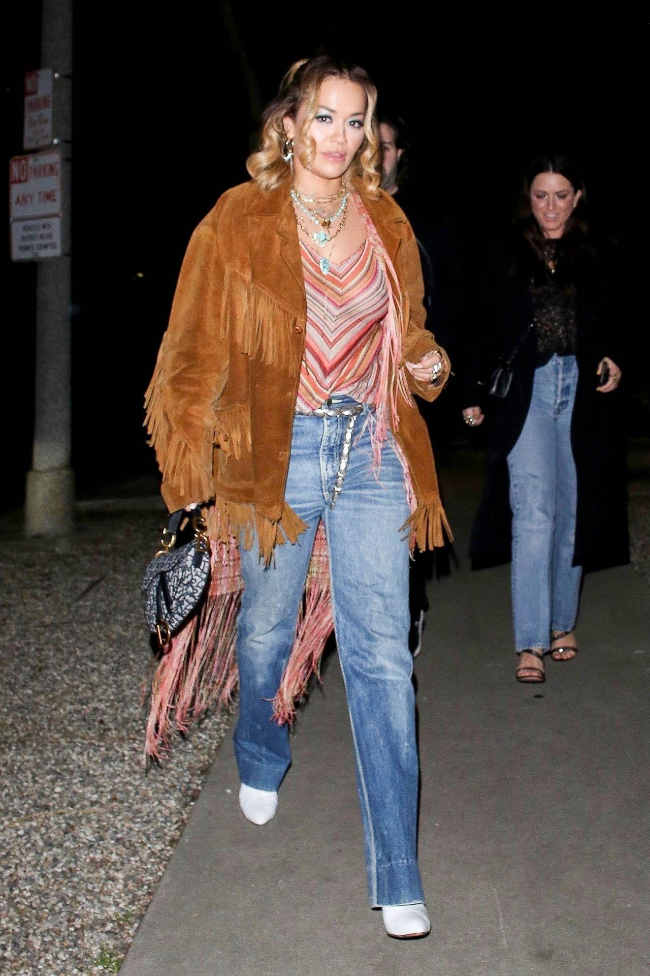 Braless Rita Ora Steps Out With Friends In Los Feliz 0006