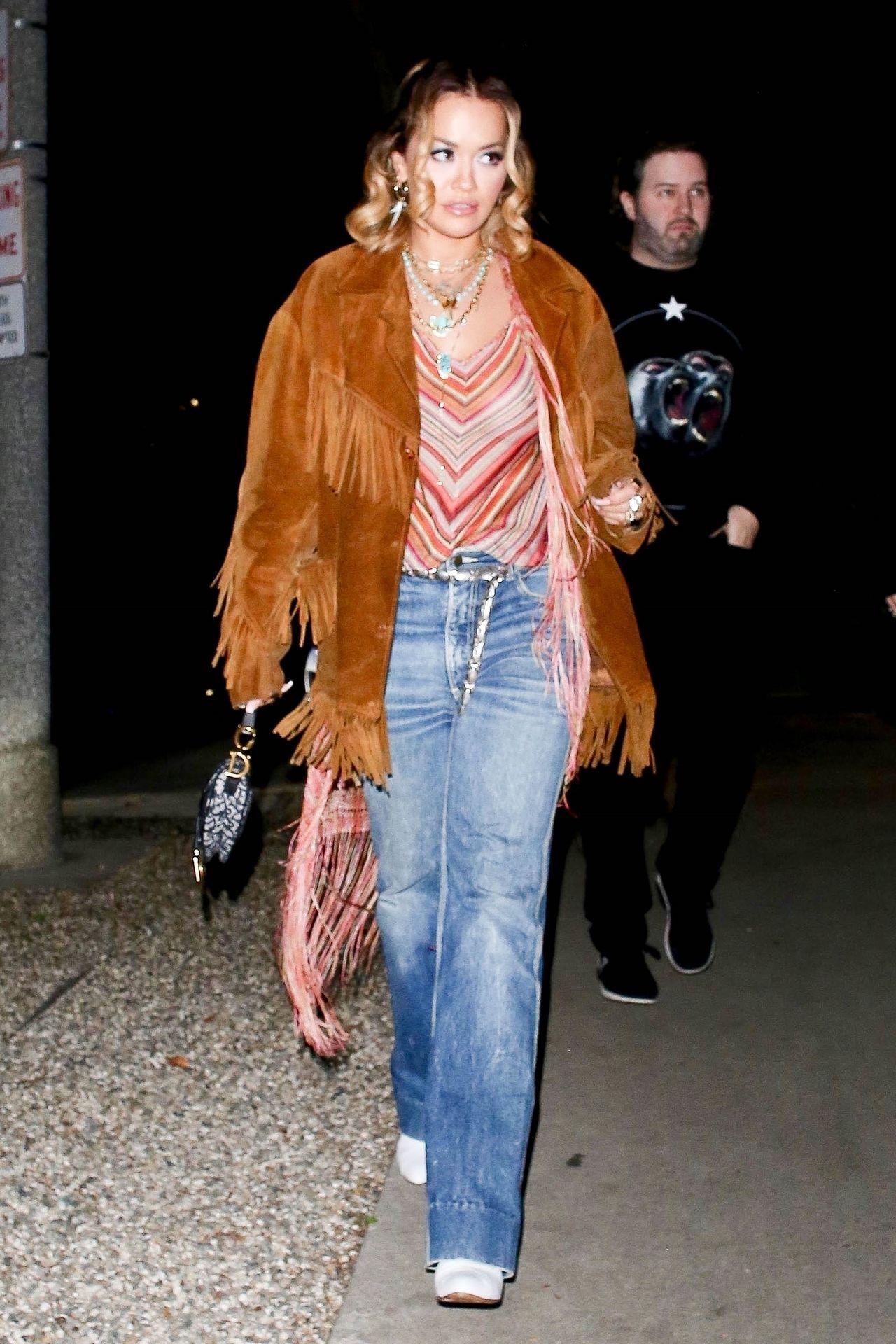 Braless Rita Ora Steps Out With Friends In Los Feliz 0007