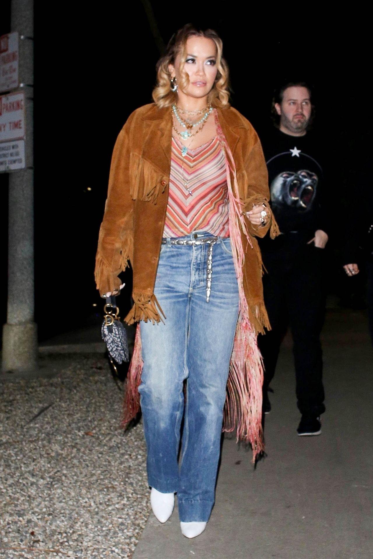 Braless Rita Ora Steps Out With Friends In Los Feliz 0008