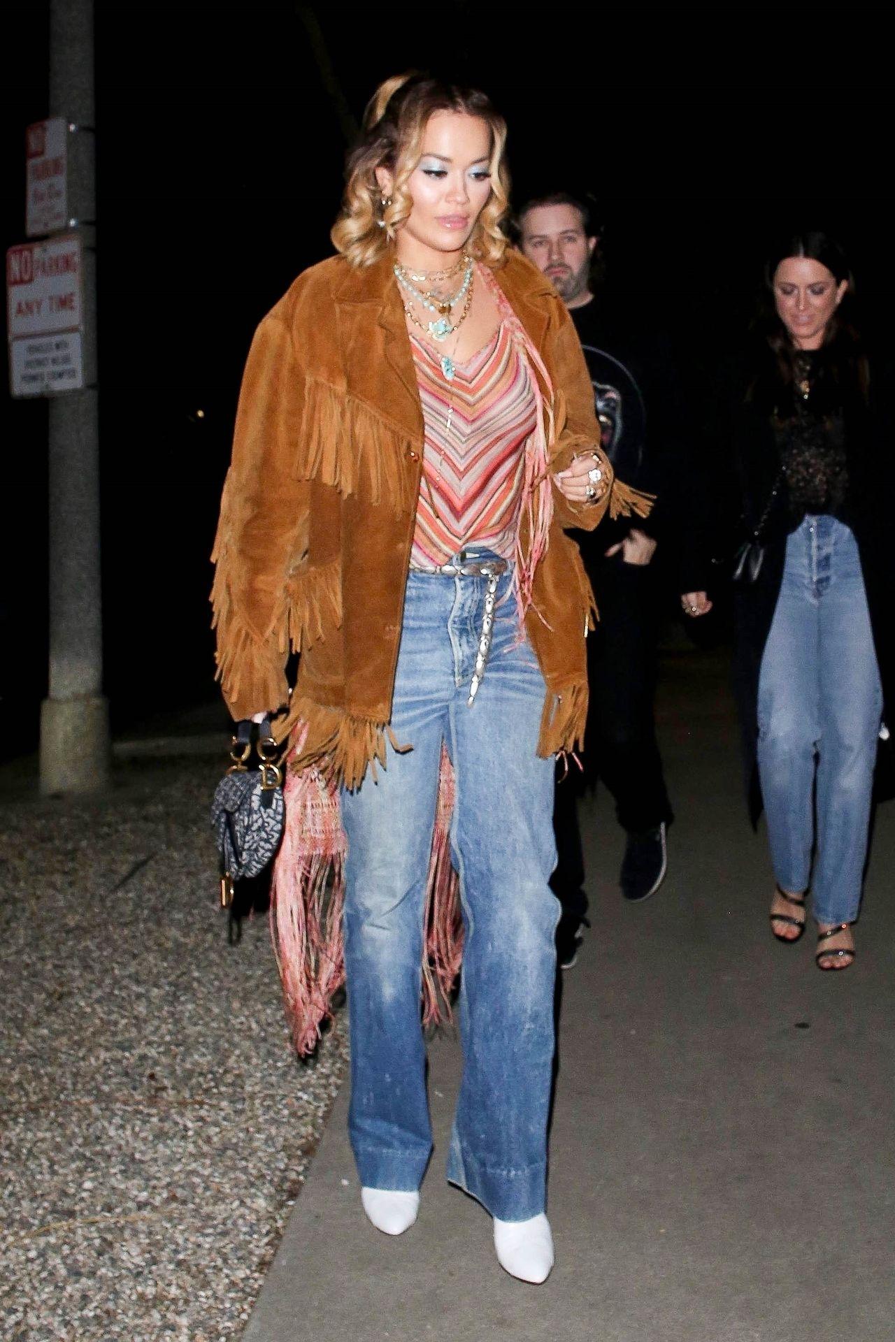 Braless Rita Ora Steps Out With Friends In Los Feliz 0009