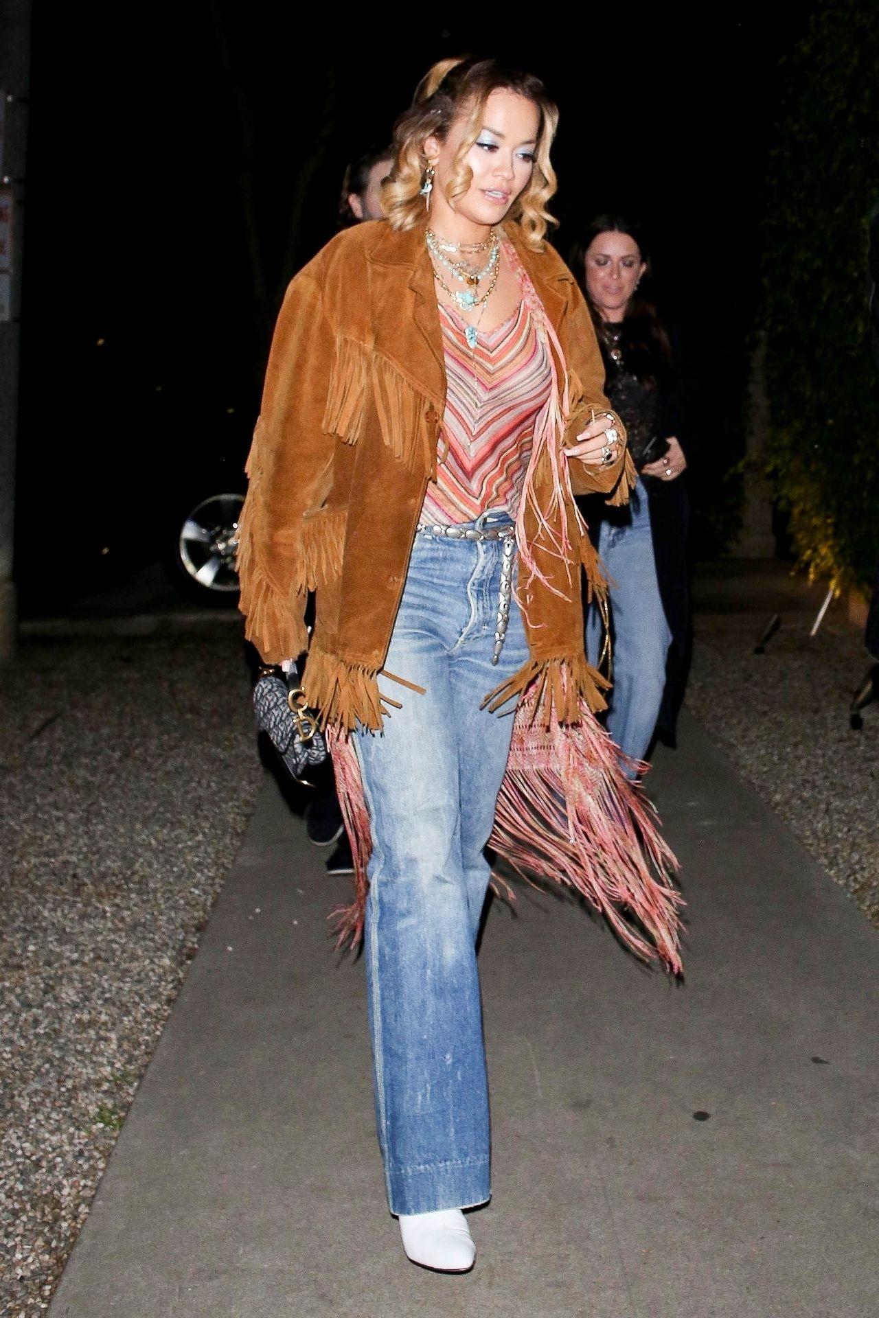 Braless Rita Ora Steps Out With Friends In Los Feliz 0010