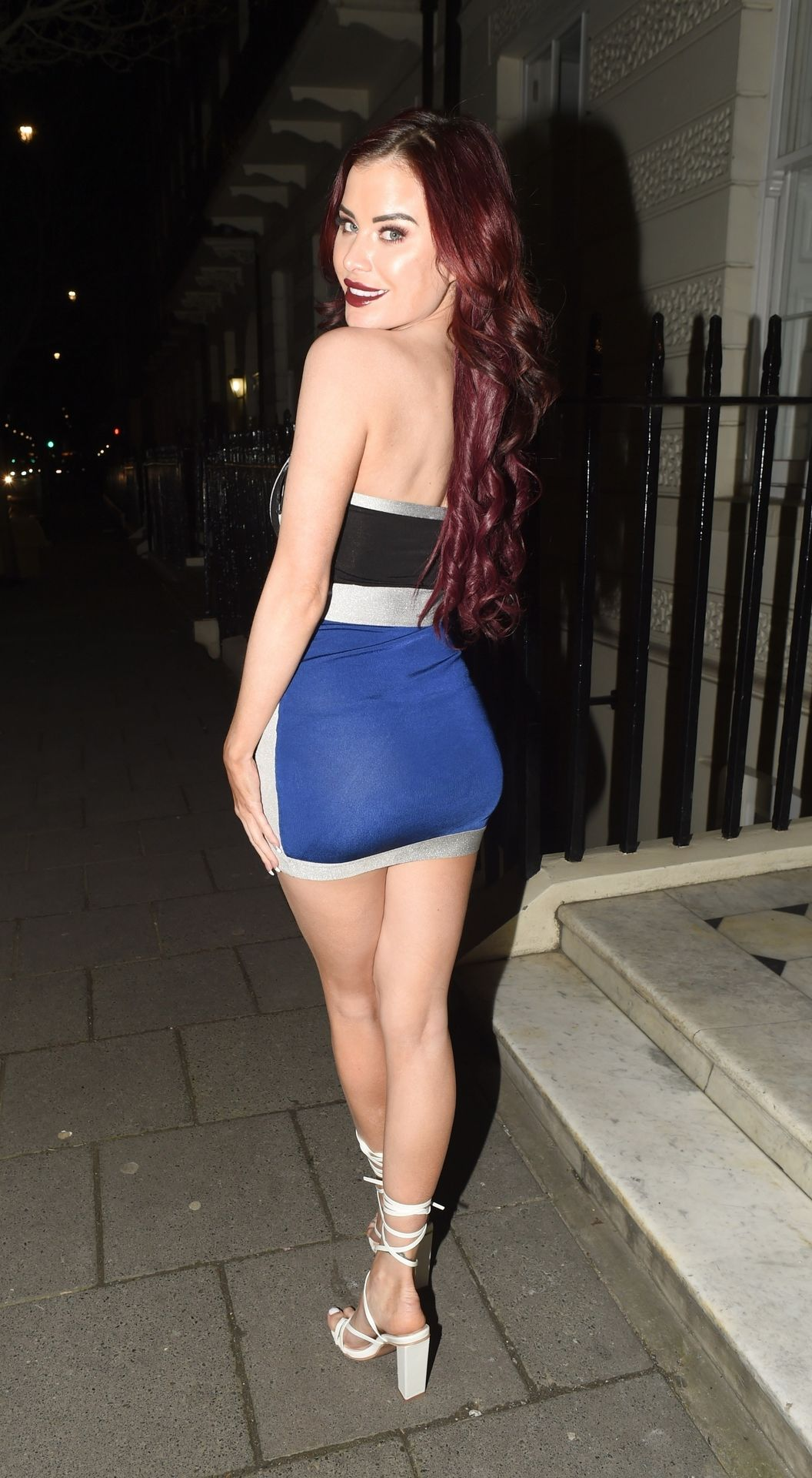 Carla Howe Getting Cheeky On A Cold Night Out In London 0009