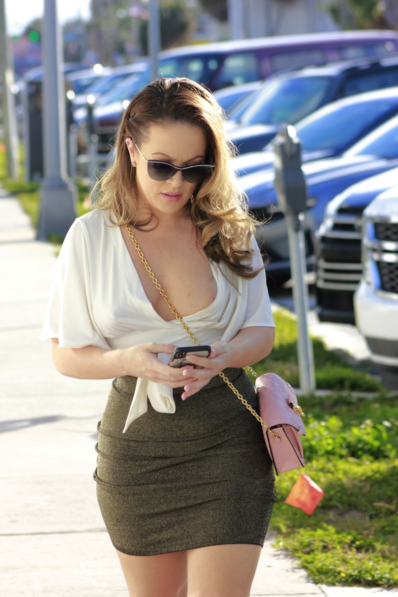 Carmen Valentina Barely Contains Her Curves Out And About In La 0001