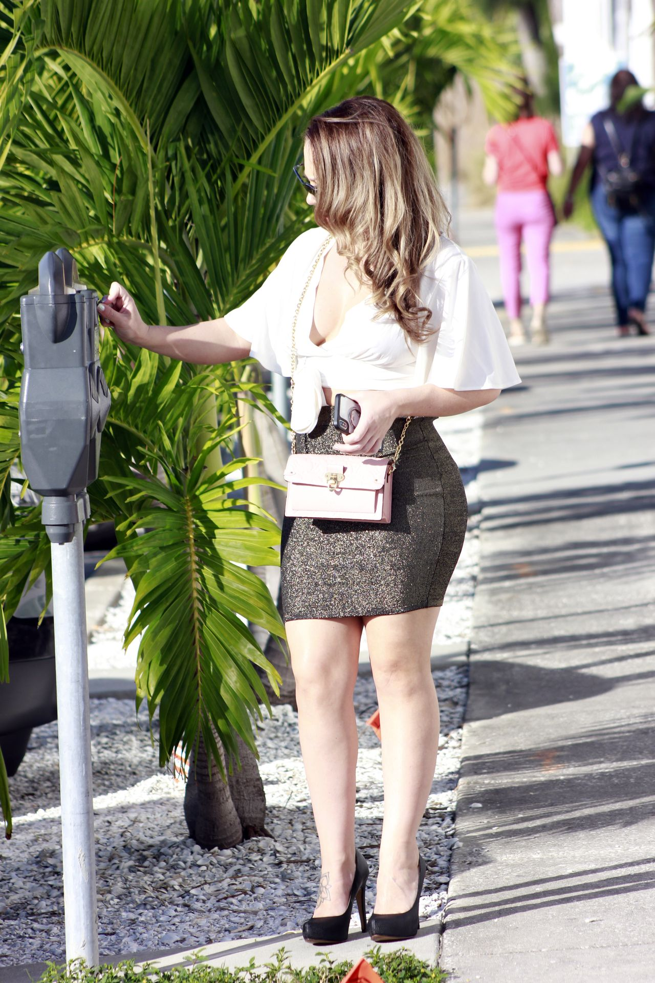 Carmen Valentina Barely Contains Her Curves Out And About In La 0005