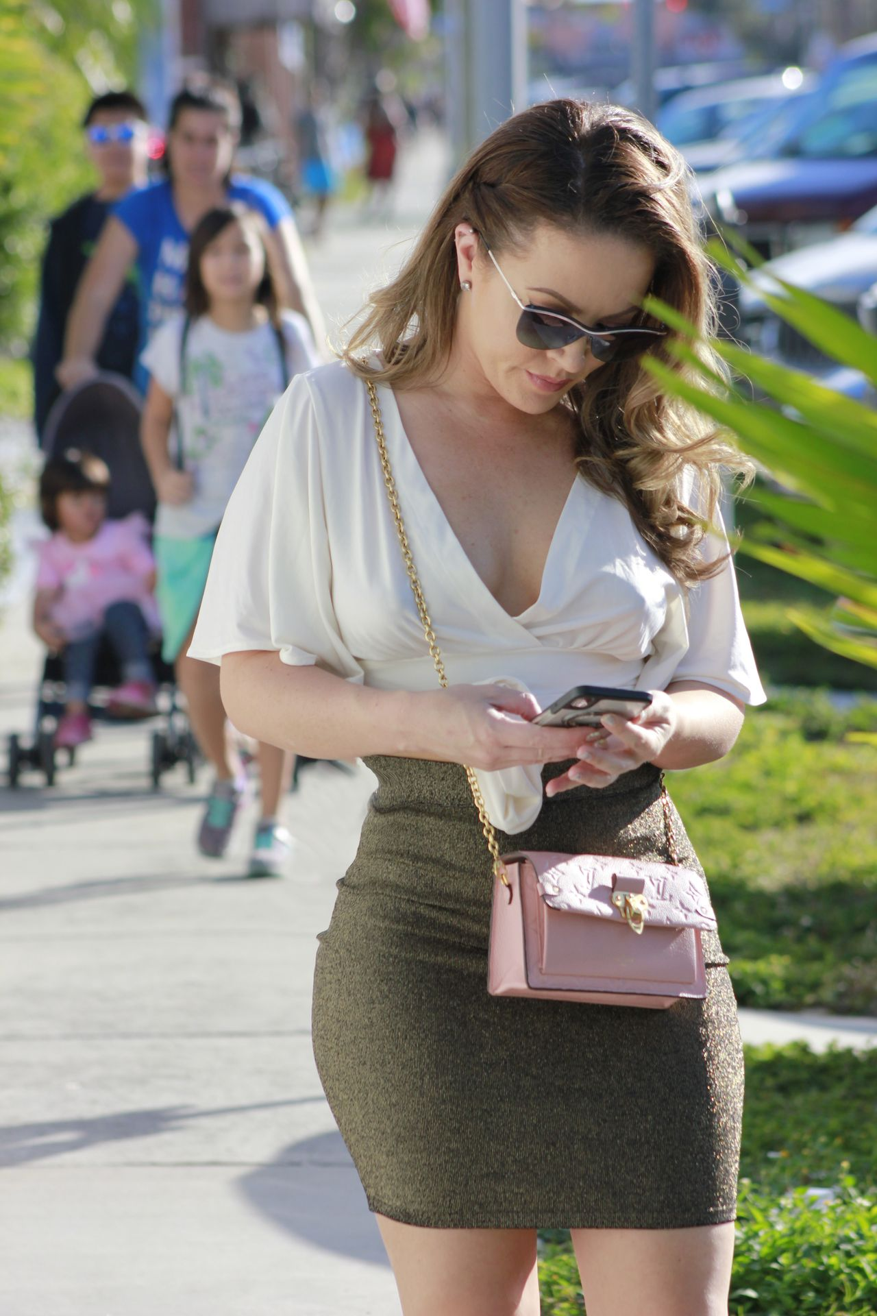 Carmen Valentina Barely Contains Her Curves Out And About In La 0008