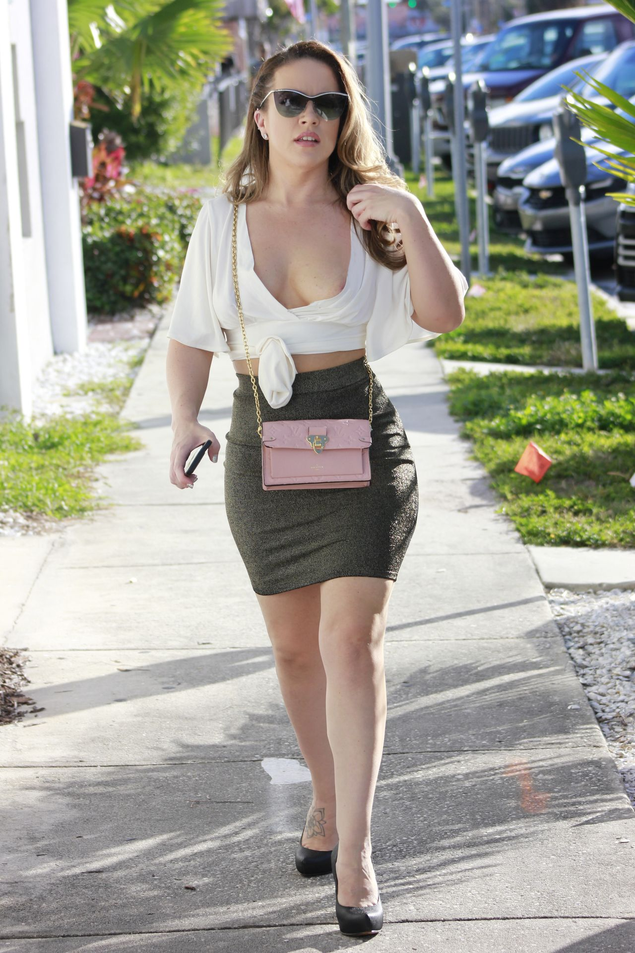 Carmen Valentina Barely Contains Her Curves Out And About In La 0009