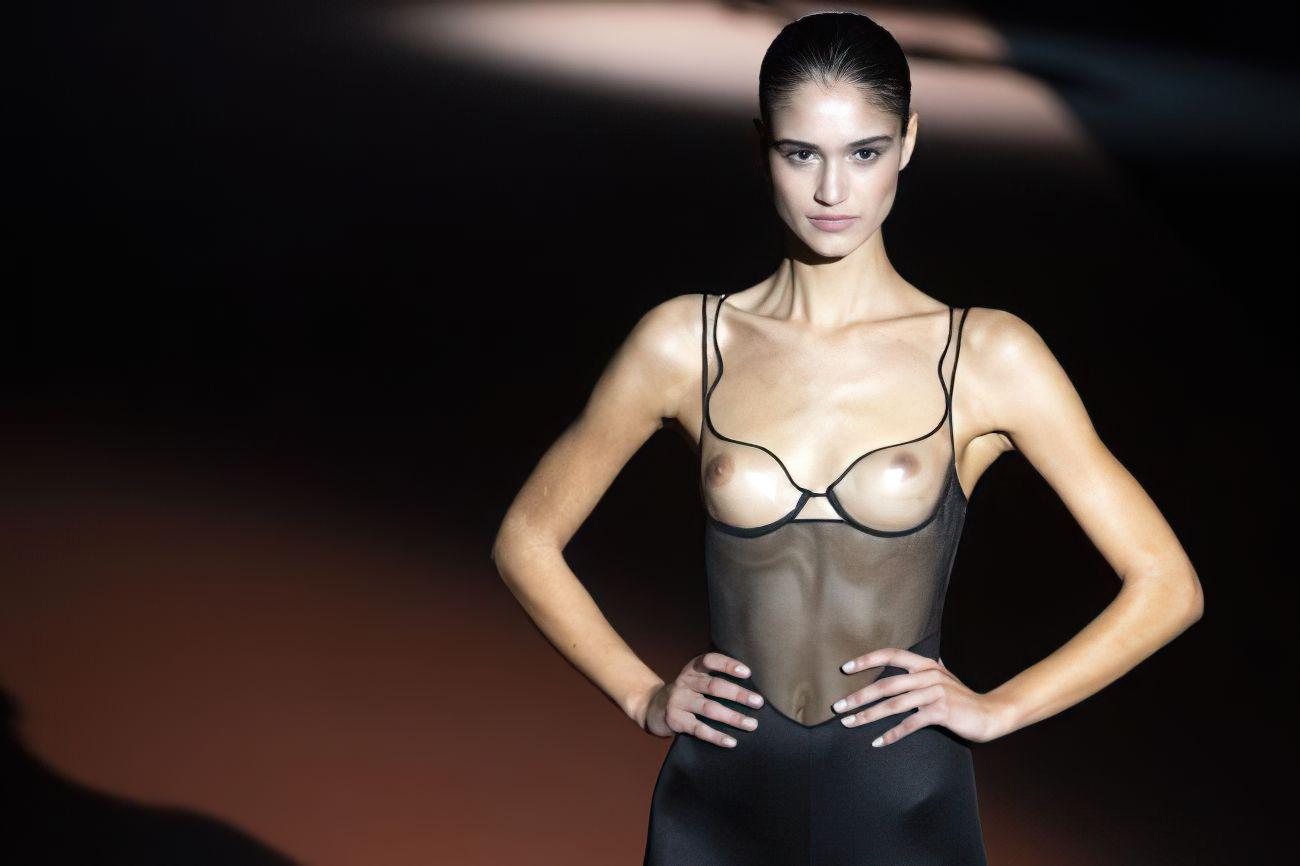 Claudia Martin's Tits At The Andres Sarda Fashion Show 0004