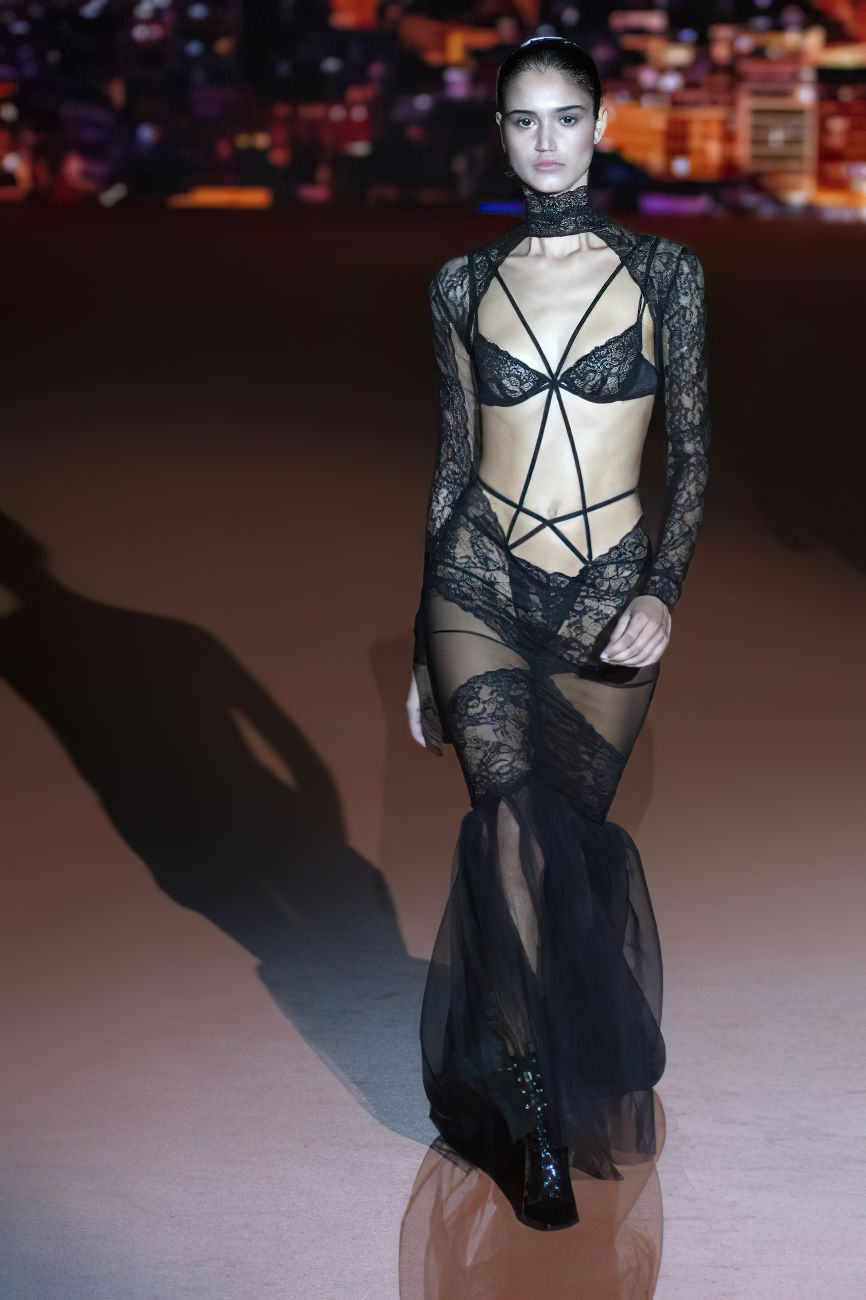 Claudia Martin's Tits At The Andres Sarda Fashion Show 0005