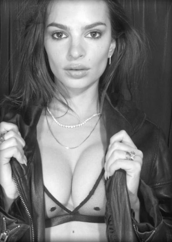 Emily Ratajkowski Shows Off Her Tits For A New Lingerie Brand 0001
