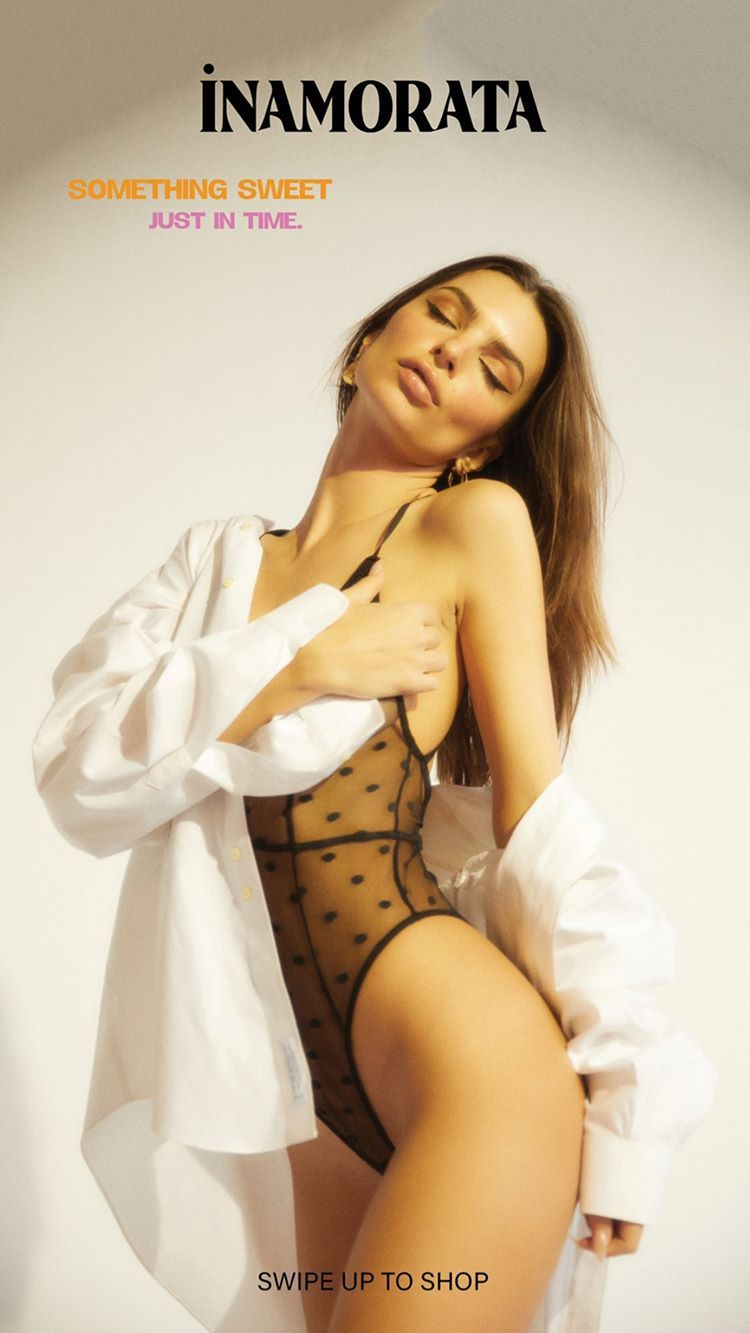 Emily Ratajkowski Shows Off Her Tits For A New Lingerie Brand 0008