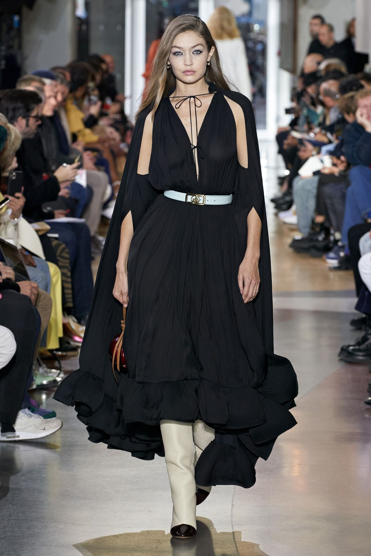 Gigi Hadid Seen Walking The Lanvin Catwalk In Paris 0001