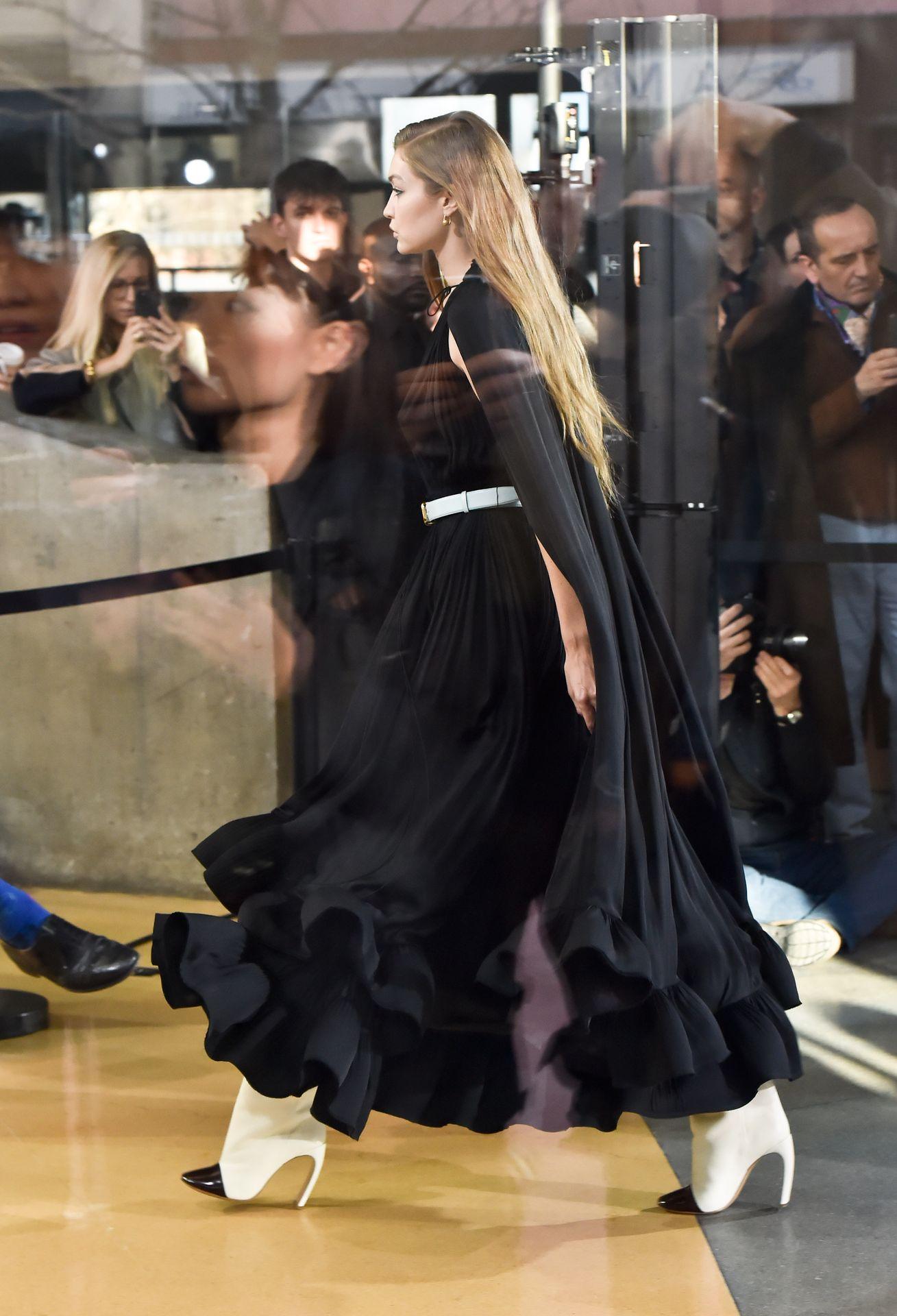 Gigi Hadid Seen Walking The Lanvin Catwalk In Paris 0004