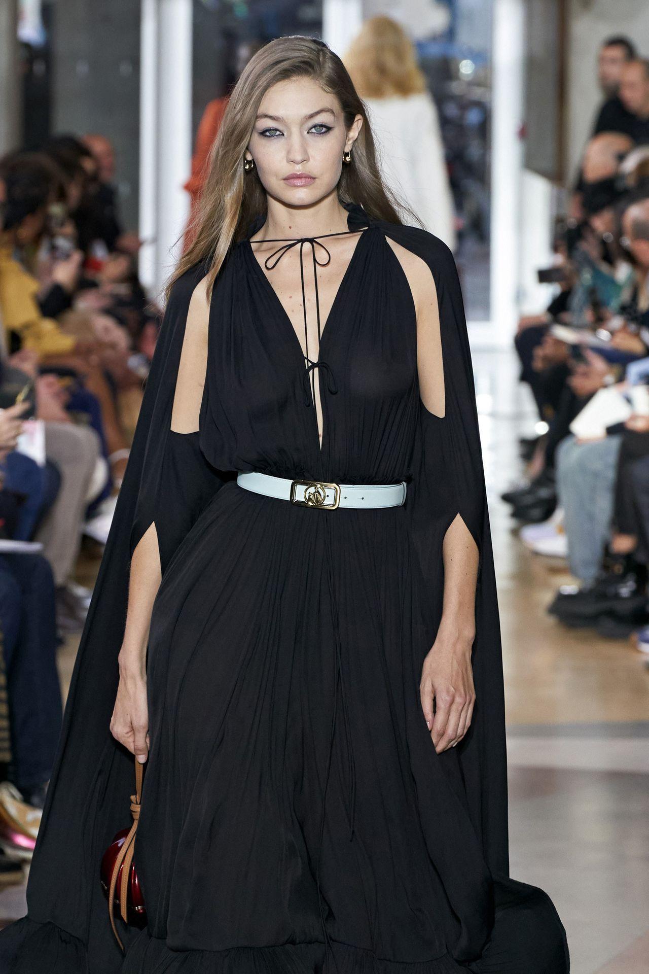 Gigi Hadid Seen Walking The Lanvin Catwalk In Paris 0008