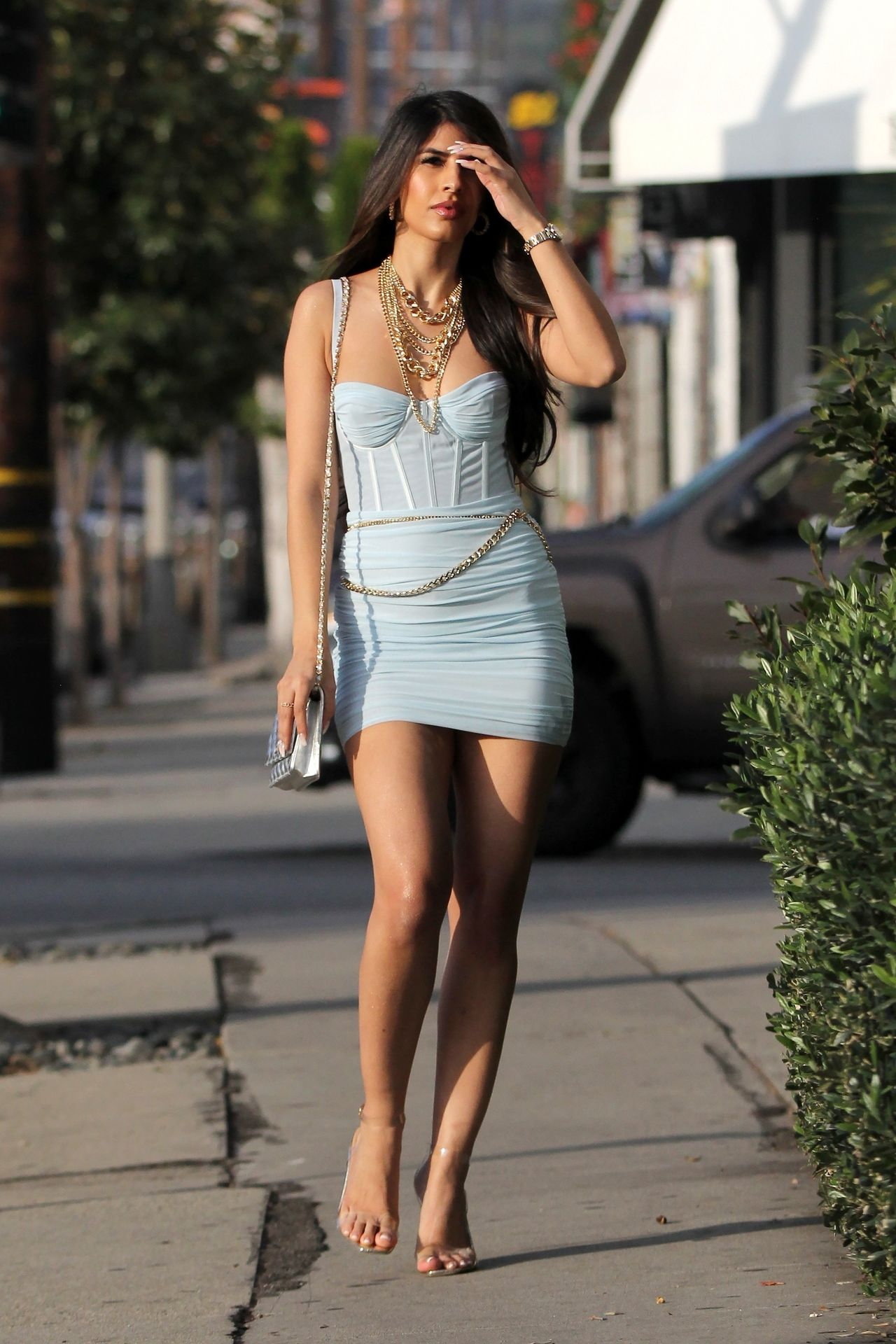 Jasmin Walia Got The Baby Blues For Lunch At Fig & Olive 0026