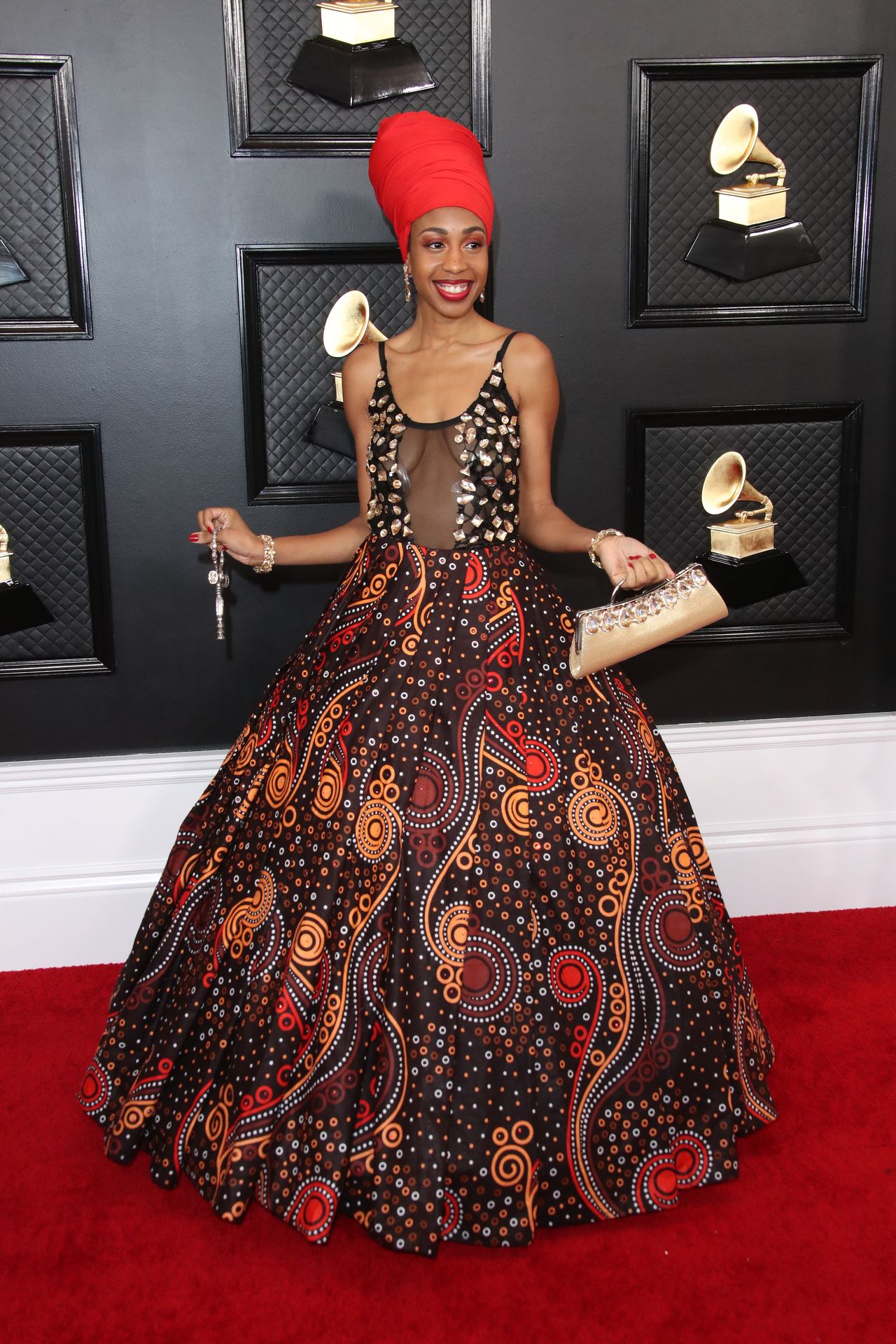 Jazzmeia Horn Displays Her Tits At The 62nd Annual Grammy Awards 0001
