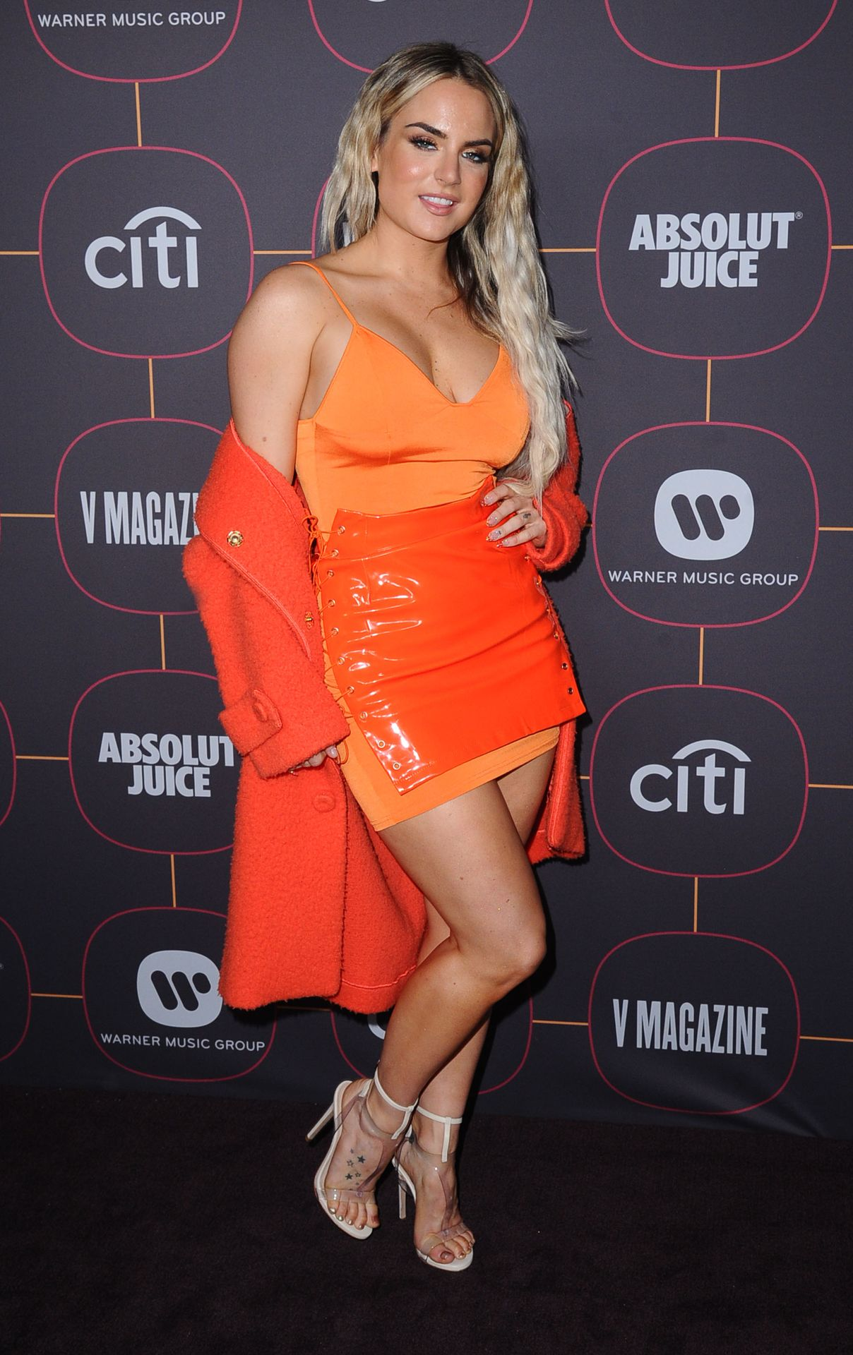 Jojo Shows Off Her Tits At The Warner Music Group Pre Grammy Party In Hollywood 0019
