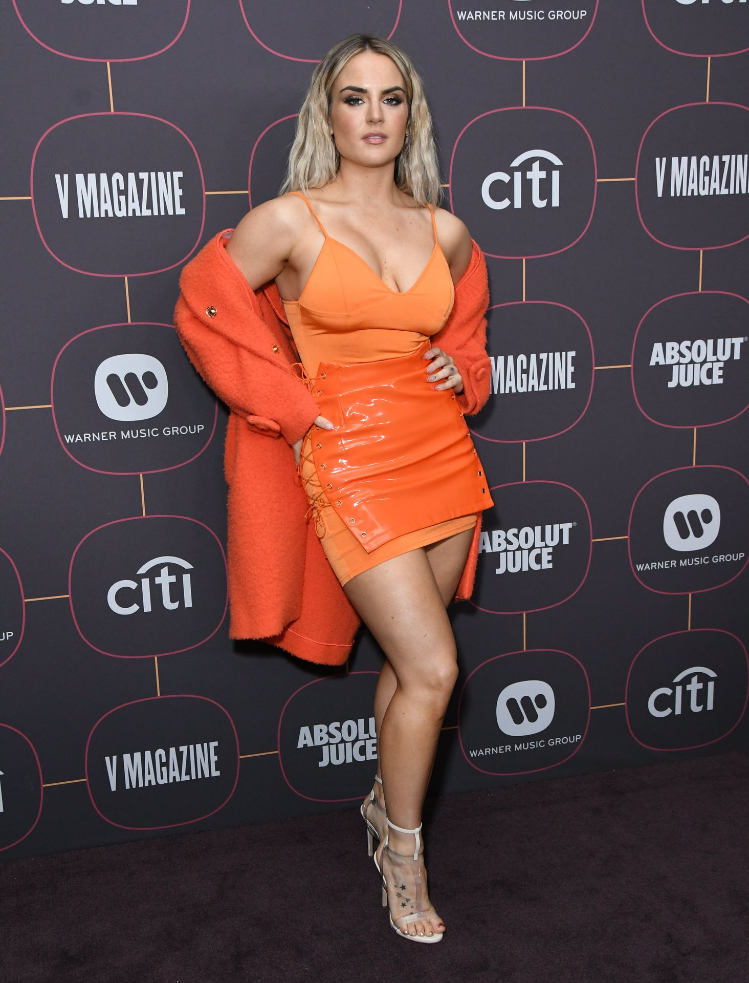 Jojo Shows Off Her Tits At The Warner Music Group Pre Grammy Party In Hollywood 0029