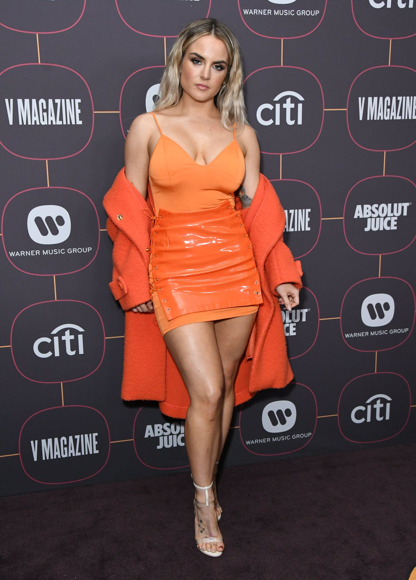 Jojo Shows Off Her Tits At The Warner Music Group Pre Grammy Party In Hollywood 0034