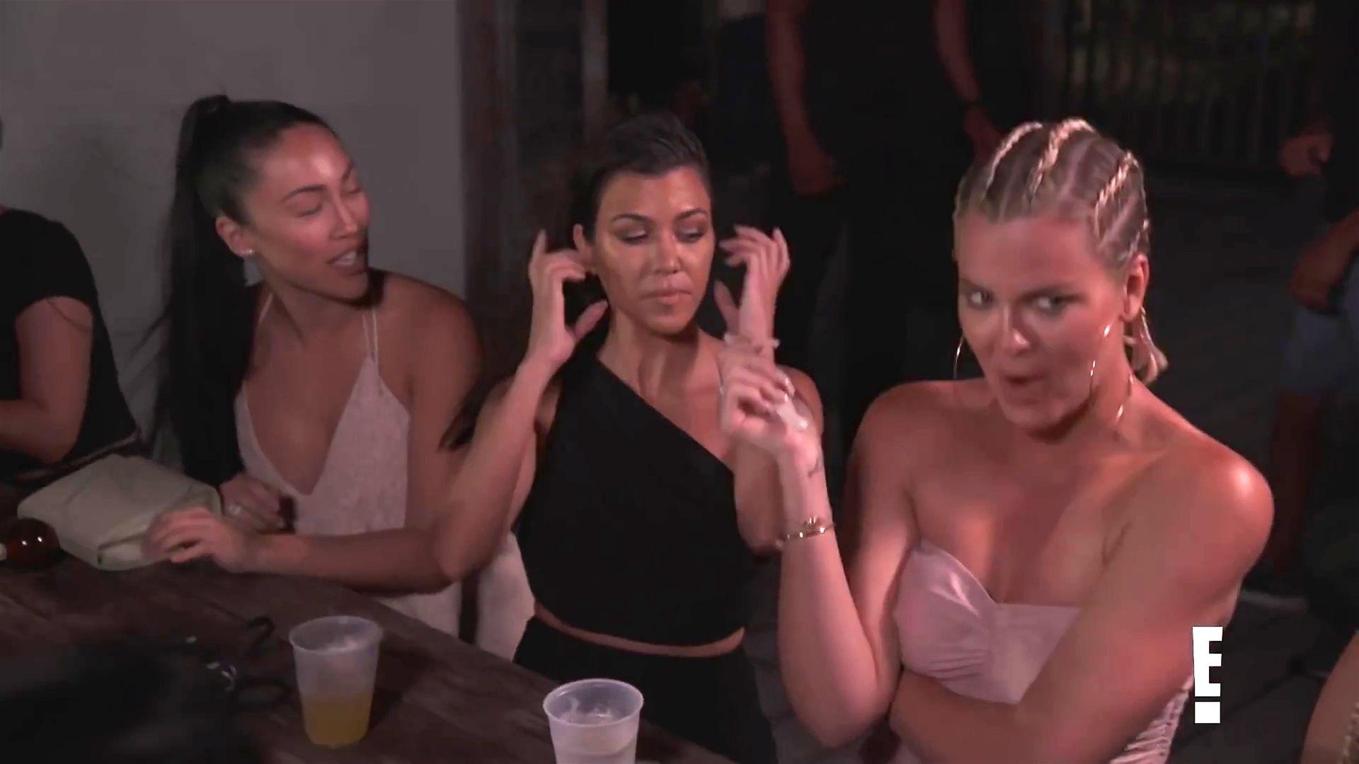 Khloé Kardashian Gets A Little Cold Without A Bra 0003