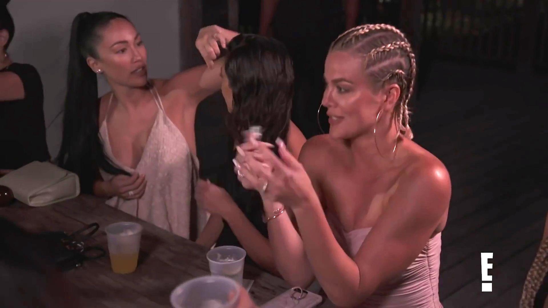 Khloé Kardashian Gets A Little Cold Without A Bra 0007