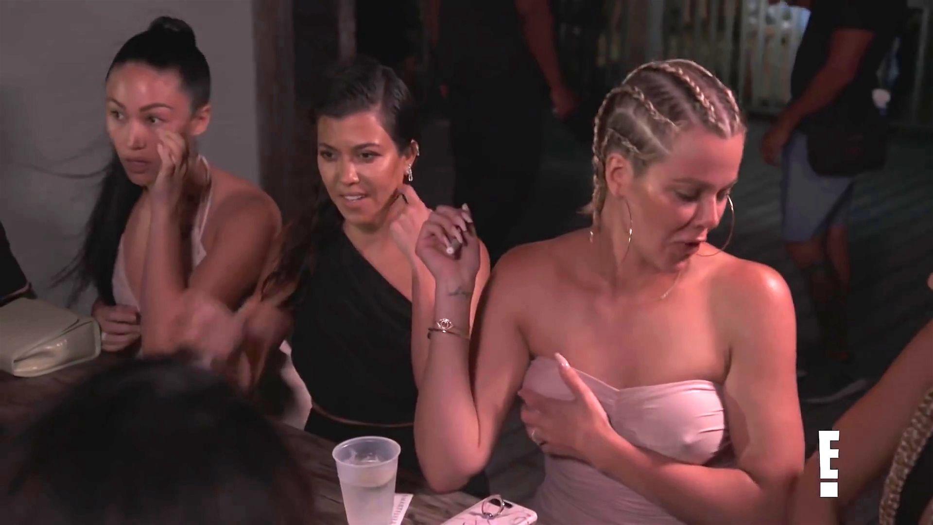 Khloé Kardashian Gets A Little Cold Without A Bra 0015
