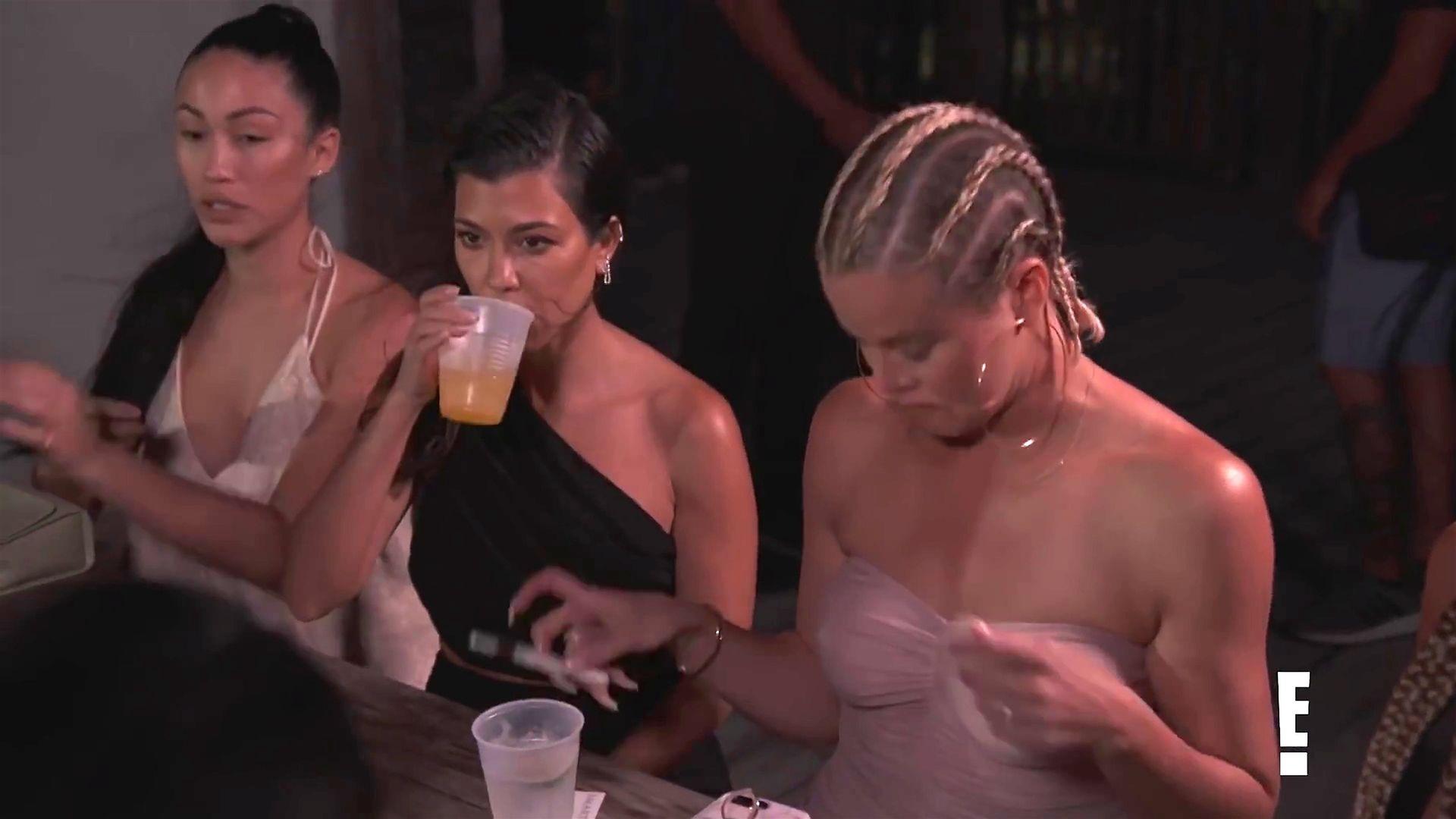 Khloé Kardashian Gets A Little Cold Without A Bra 0021