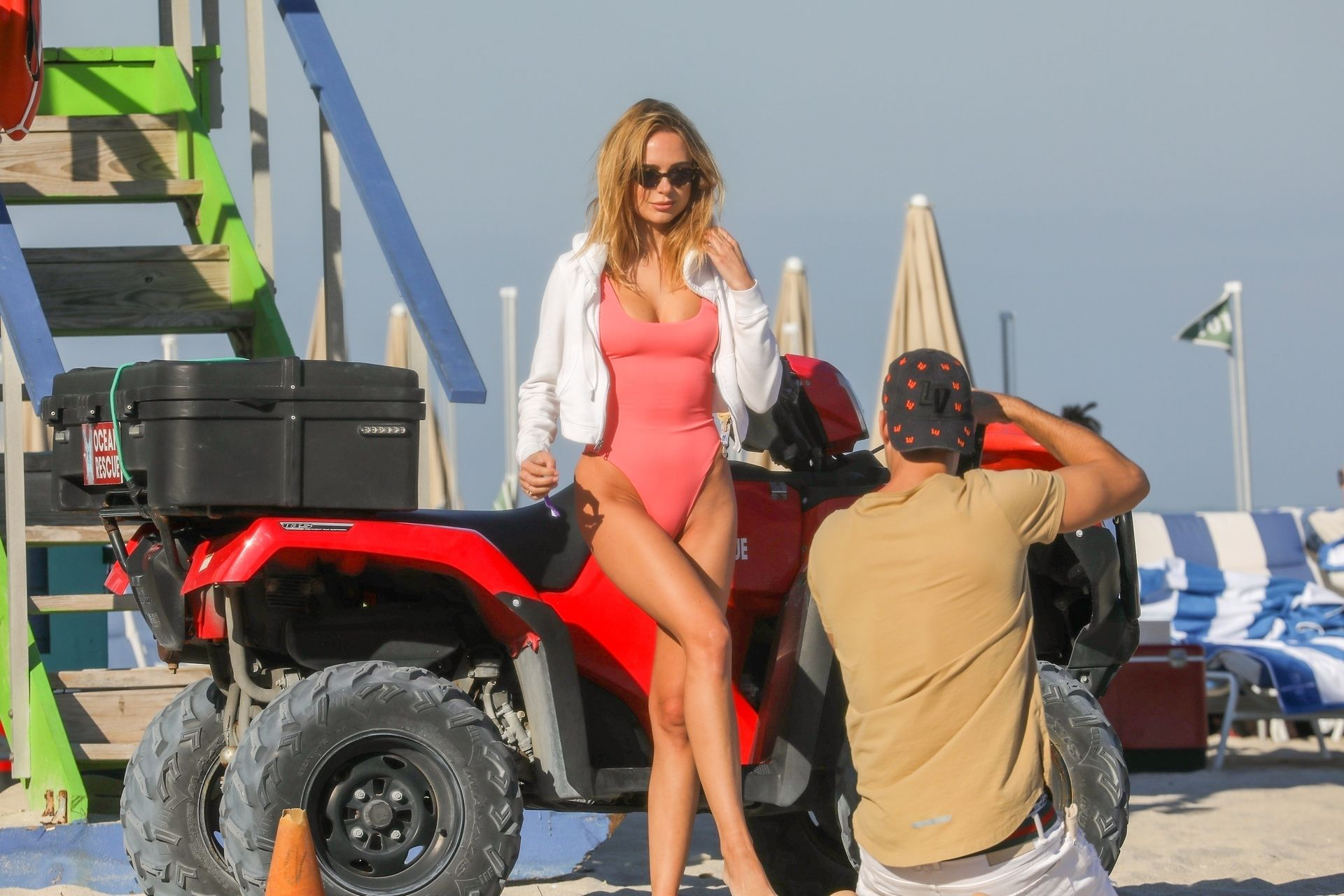 Kimberley Garner Poses In Sexy Ocean Rescue Themed Photoshoot 0004