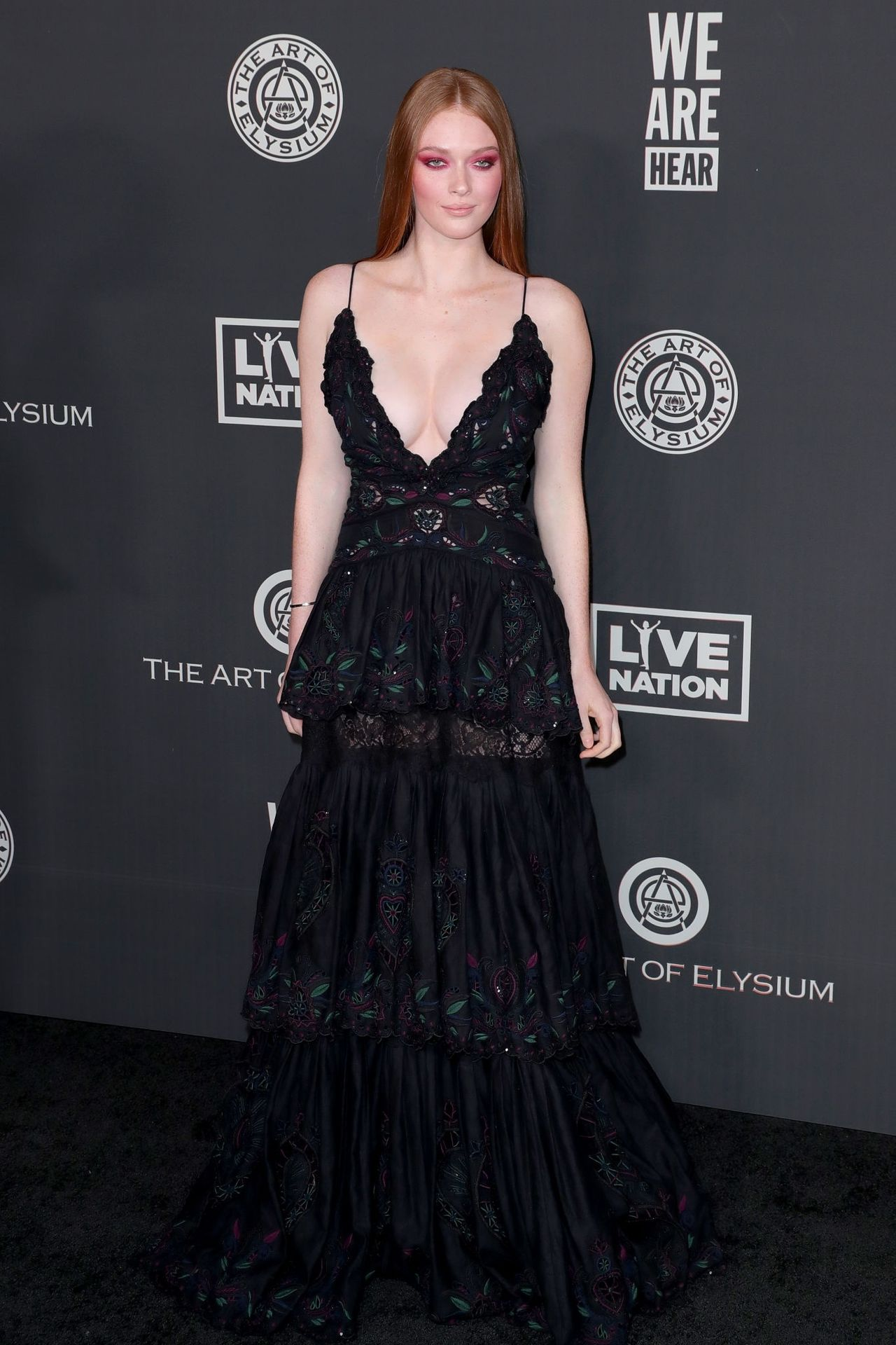 Larsen Thompson's Cleavage At The Art Of Elysium's 13th Annual Black Tie Artistic Experience Heaven 0010
