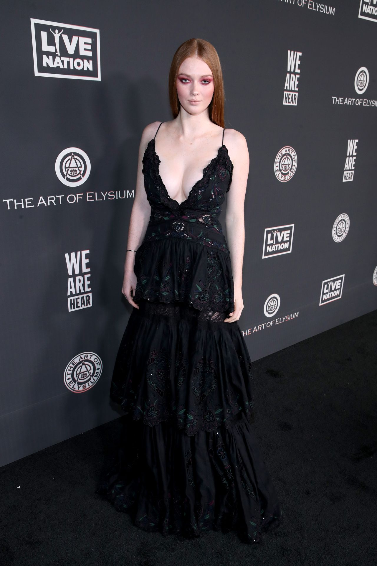 Larsen Thompson's Cleavage At The Art Of Elysium's 13th Annual Black Tie Artistic Experience Heaven 0012