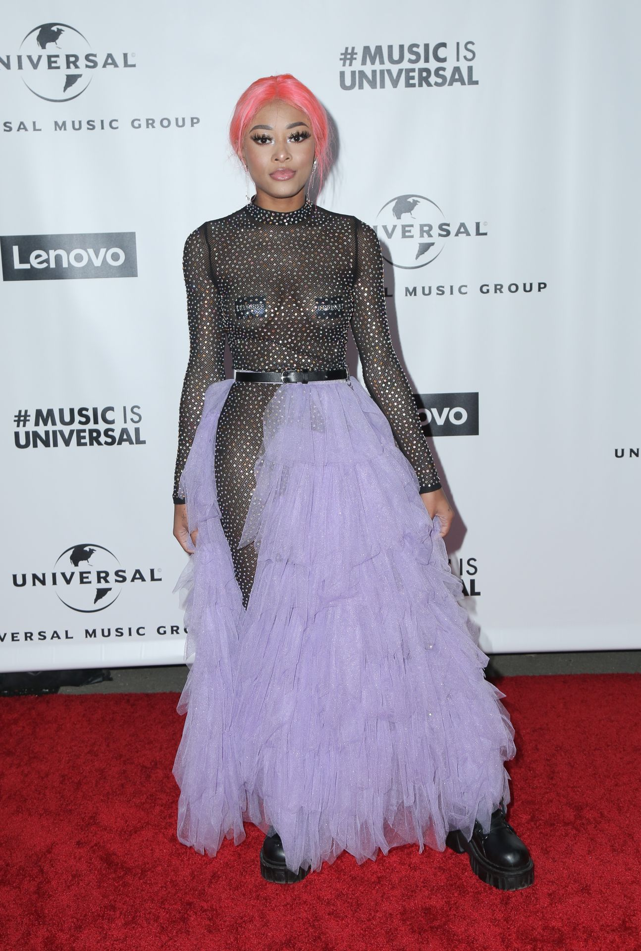 Maya B's Tits At The Universal Music Group's Grammy After Party 0002