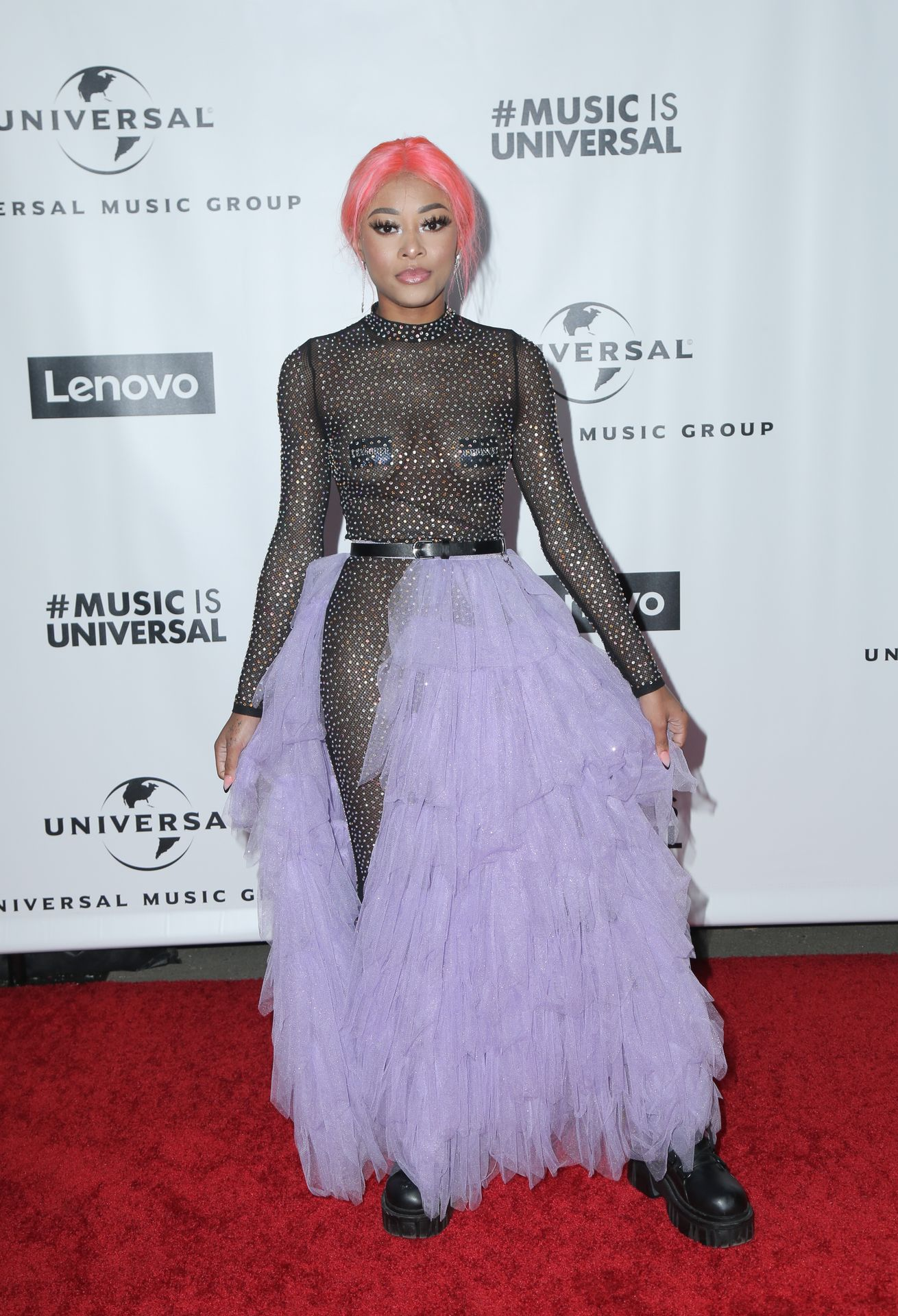 Maya B's Tits At The Universal Music Group's Grammy After Party 0003