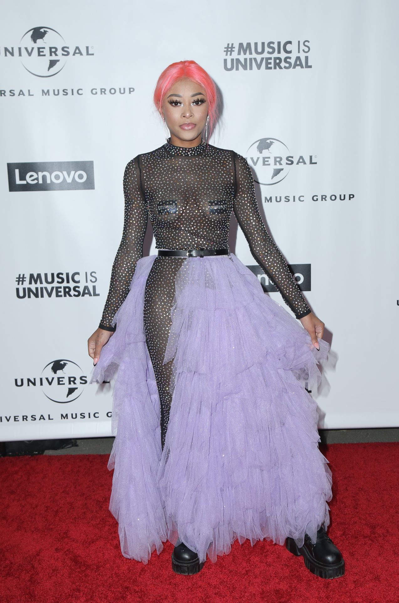 Maya B's Tits At The Universal Music Group's Grammy After Party 0004