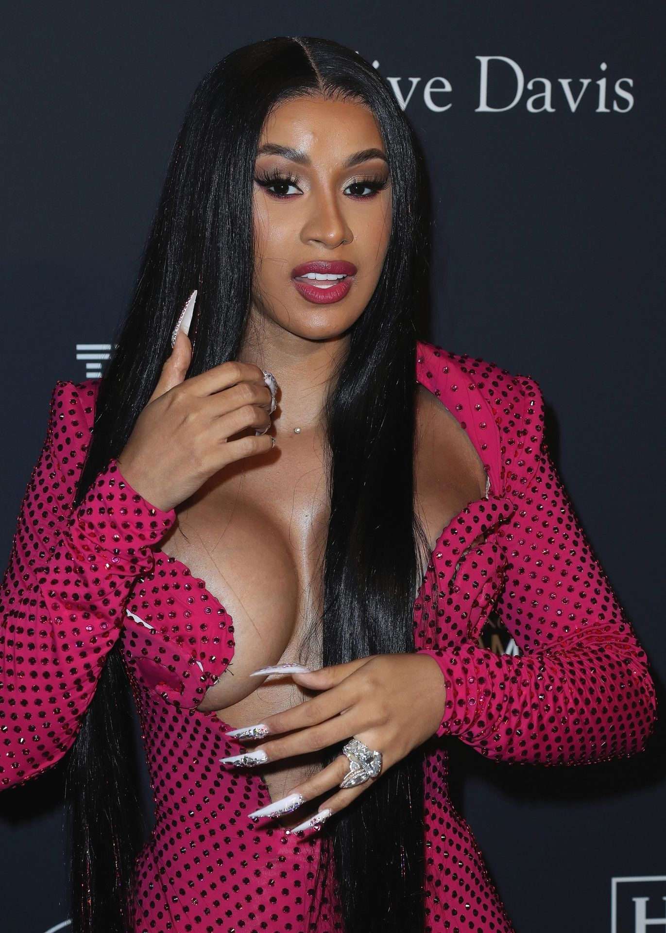 Offset Covers Cardi B's Boobs To Avoid Wardrobe Malfunction At Clive Davis Pre Grammy Party 0028
